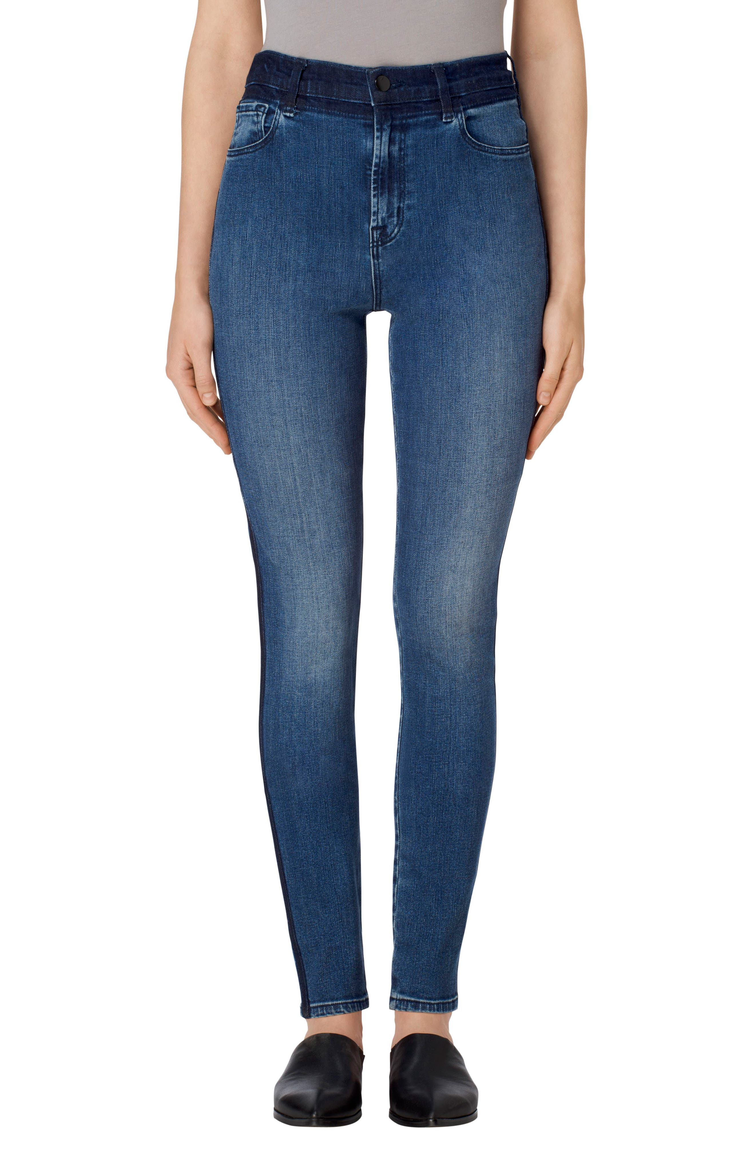 Main Image - J Brand Carolina Super High Rise Skinny Jeans (Gone)