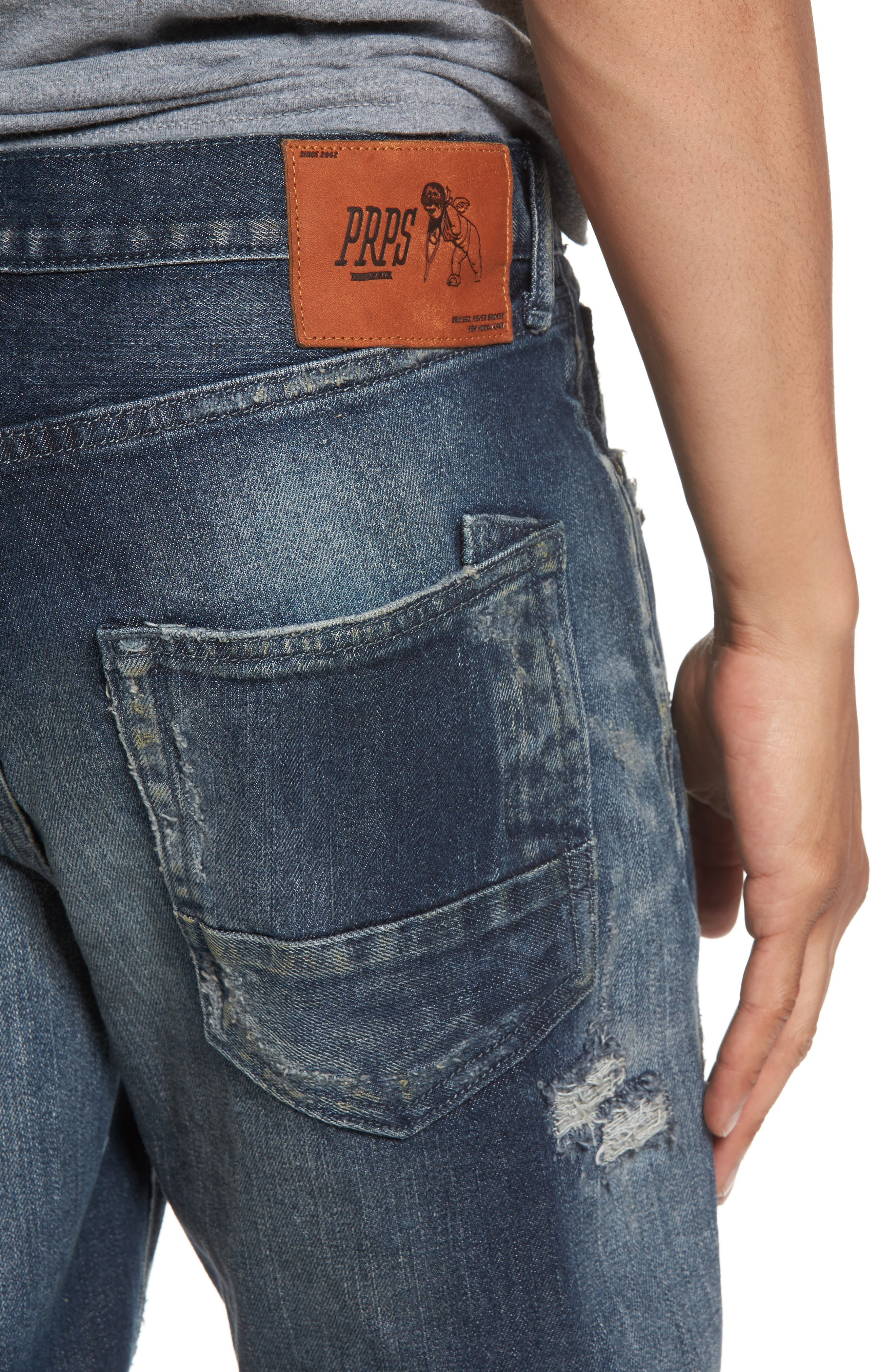 Alternate Image 4  - PRPS Demon Slim Straight Leg Jeans