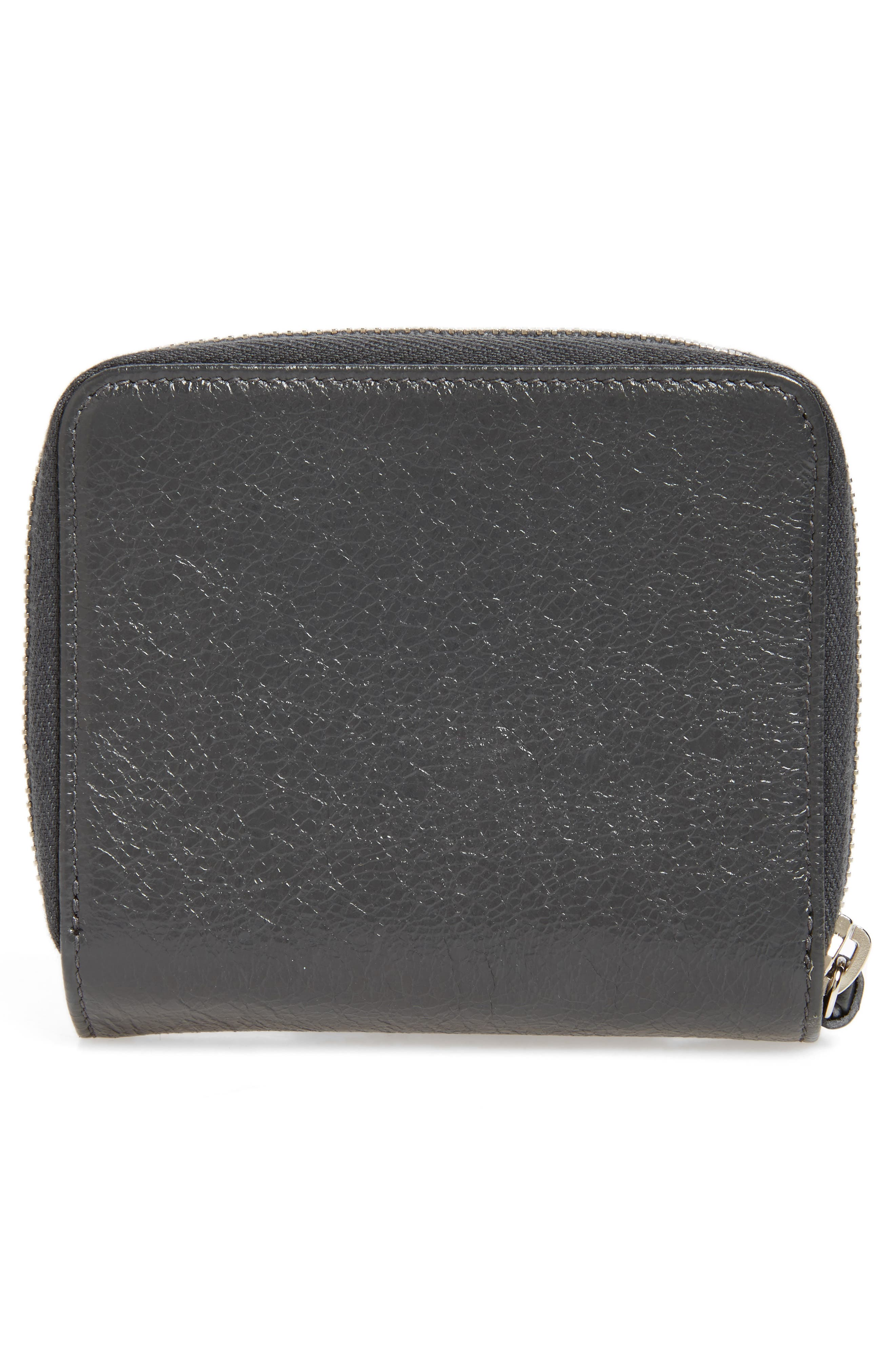 Classic Leather Billfold,                             Alternate thumbnail 4, color,                             1110 Gris Fossile