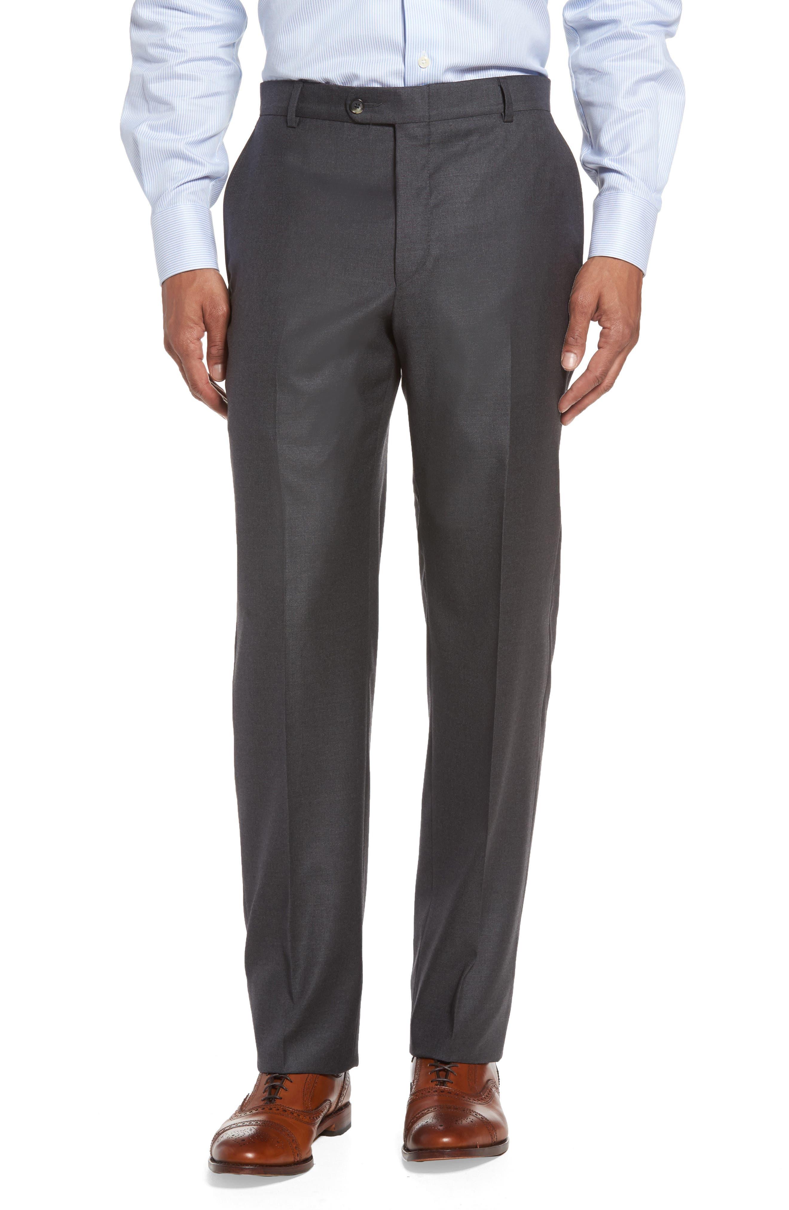 Alternate Image 6  - Hickey Freeman Classic B Fit Loro Piana Wool Suit