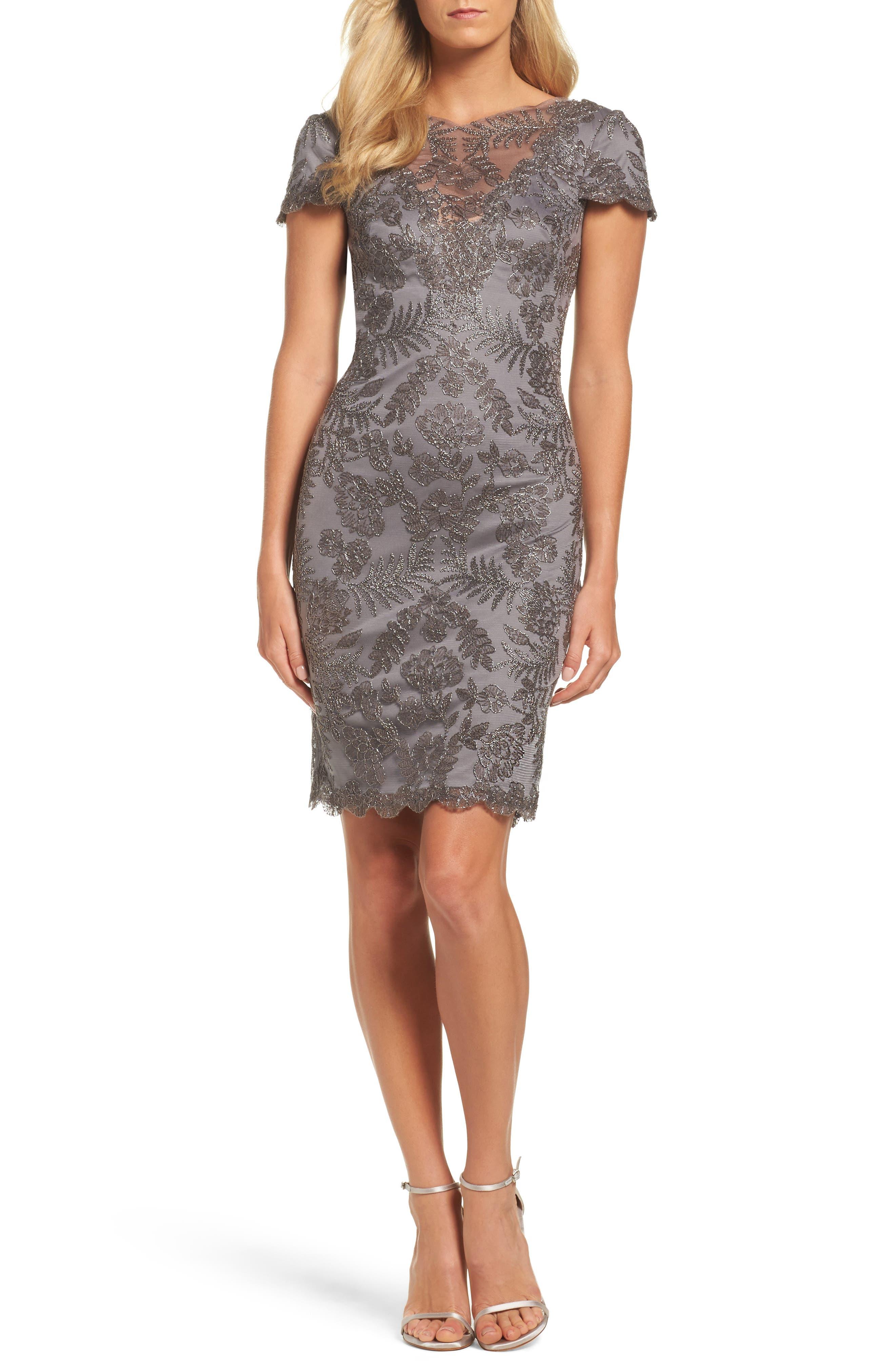 Lace Sheath Dress,                         Main,                         color, Dark Pearl