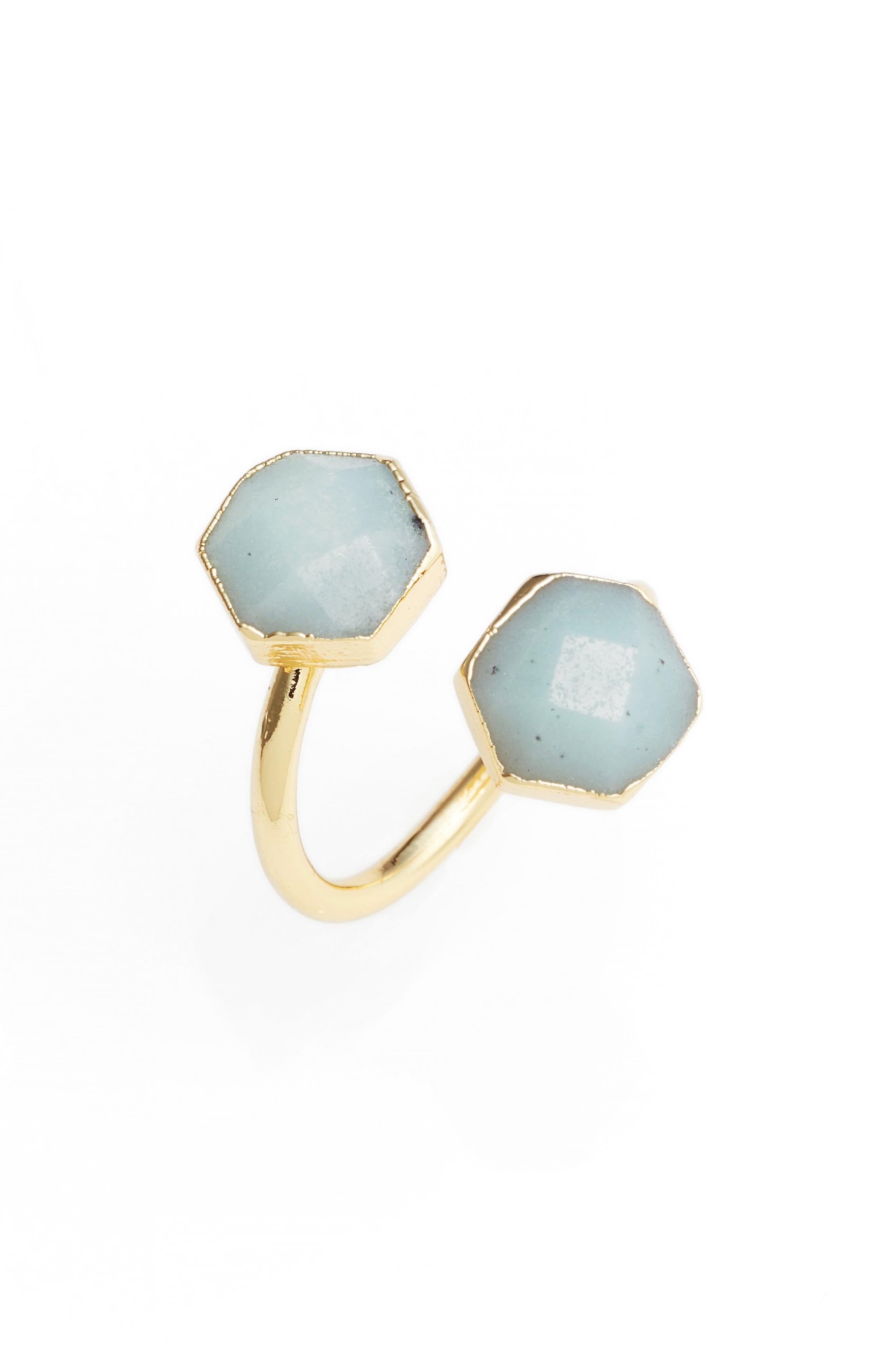 Main Image - Elise M. Arabesque Semiprecious Stone Adjustable Ring