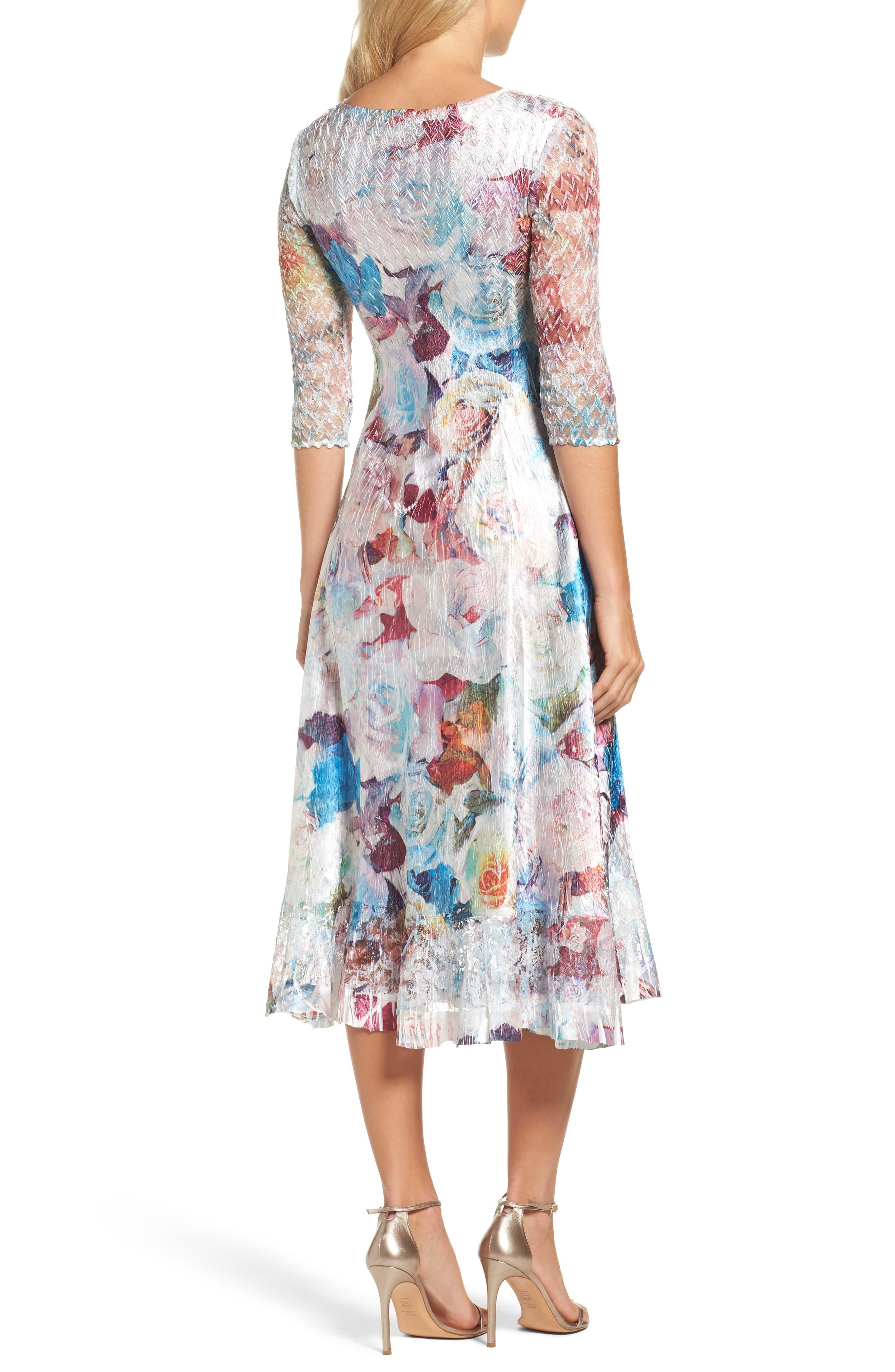 A-Line Dress,                             Alternate thumbnail 2, color,                             Summer Eden