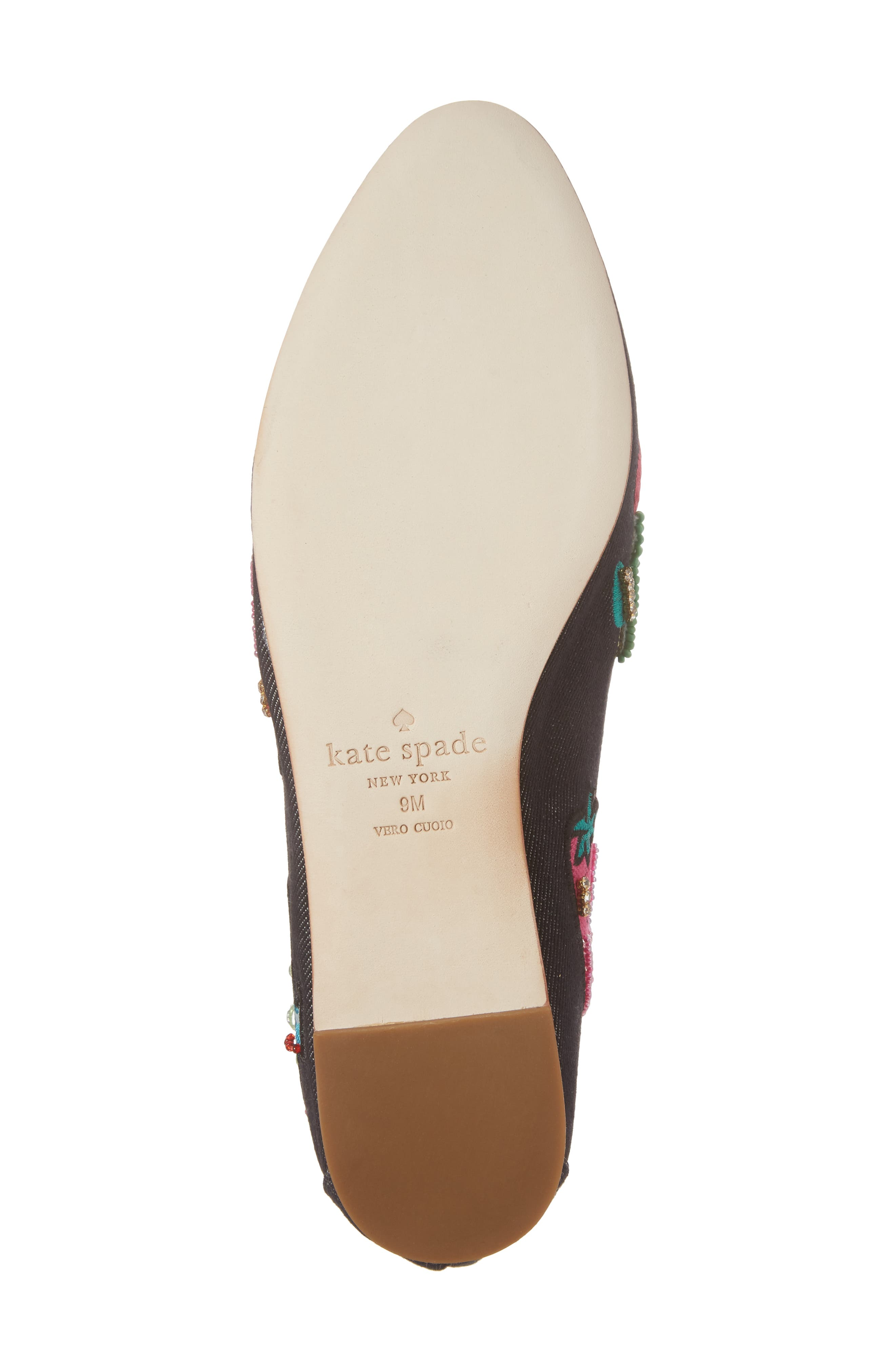 Alternate Image 6  - kate spade new york saville embroidered loafer (Women)