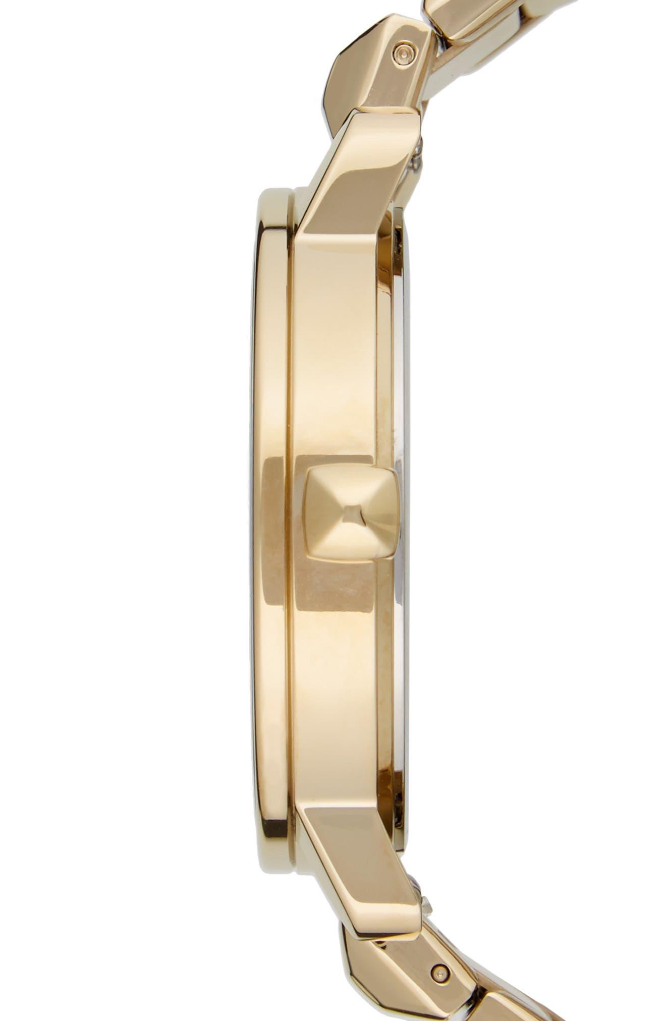 BFFL Bracelet Watch, 36mm,                             Alternate thumbnail 3, color,                             Gold/ Powder White/ Gold