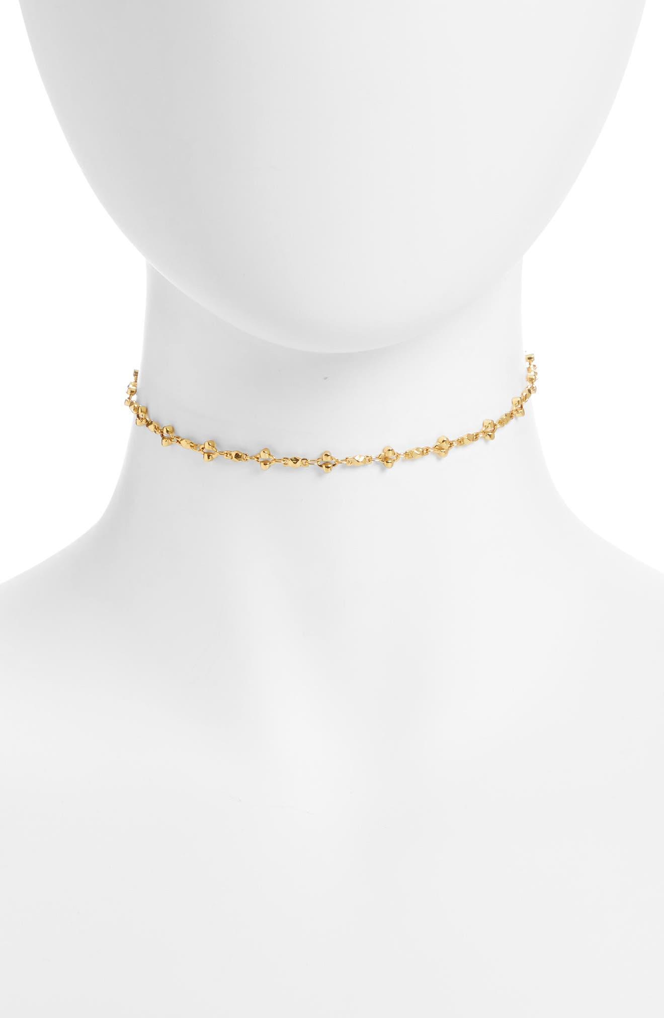 Anika Choker Necklace,                             Main thumbnail 1, color,                             Gold