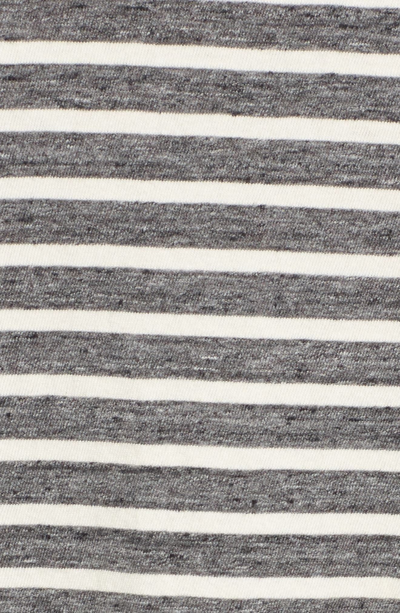Stripe Slouchy Tee,                             Alternate thumbnail 5, color,                             Charcoal Anchor Stripe