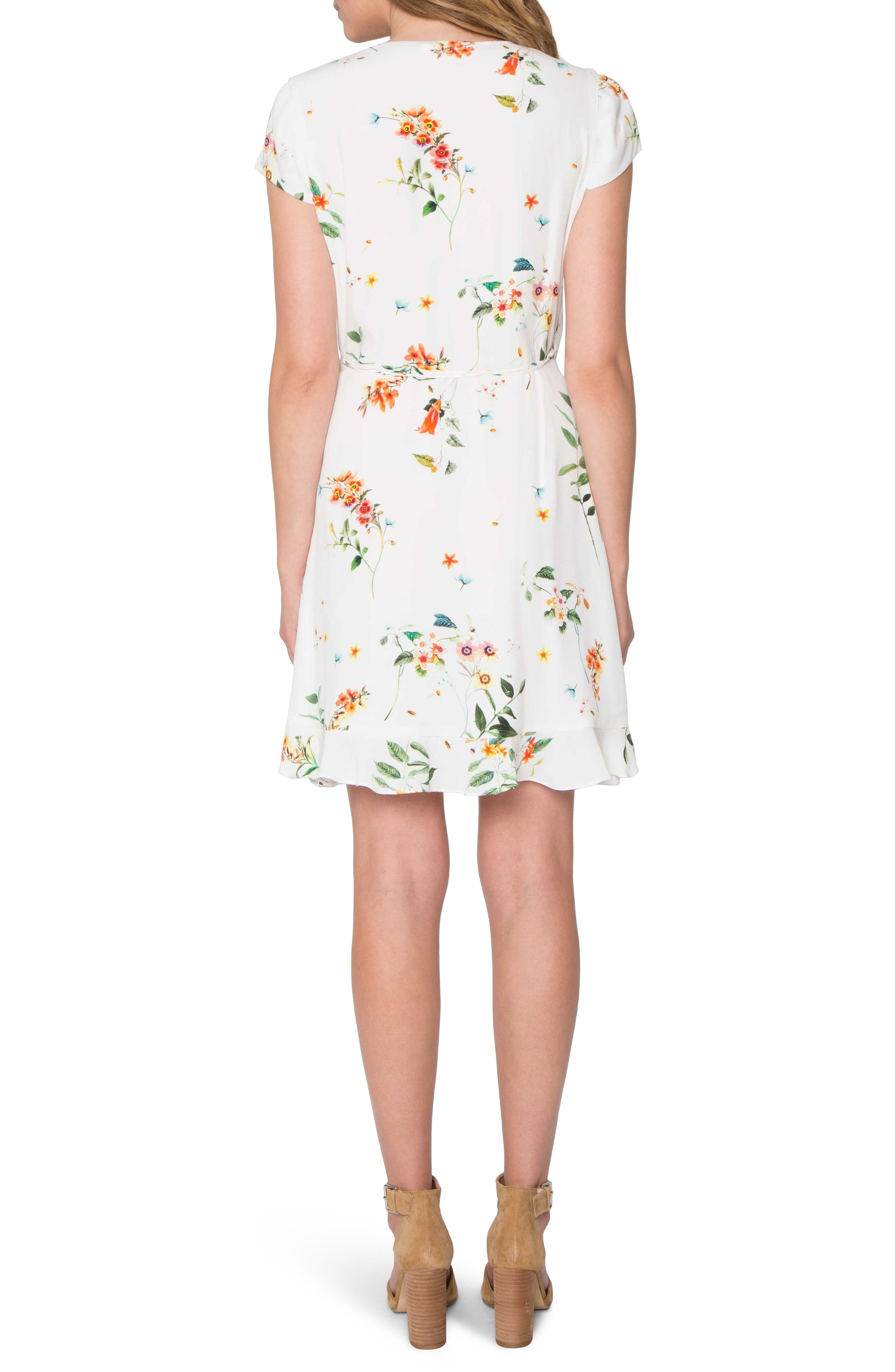 Wrap Dress,                             Alternate thumbnail 2, color,                             Ivory