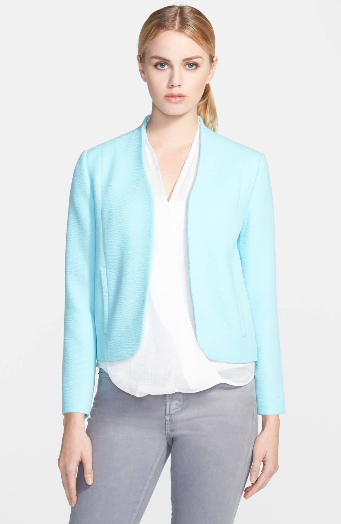 Textured Shell Jacket,                         Main,                         color, Teal Angel