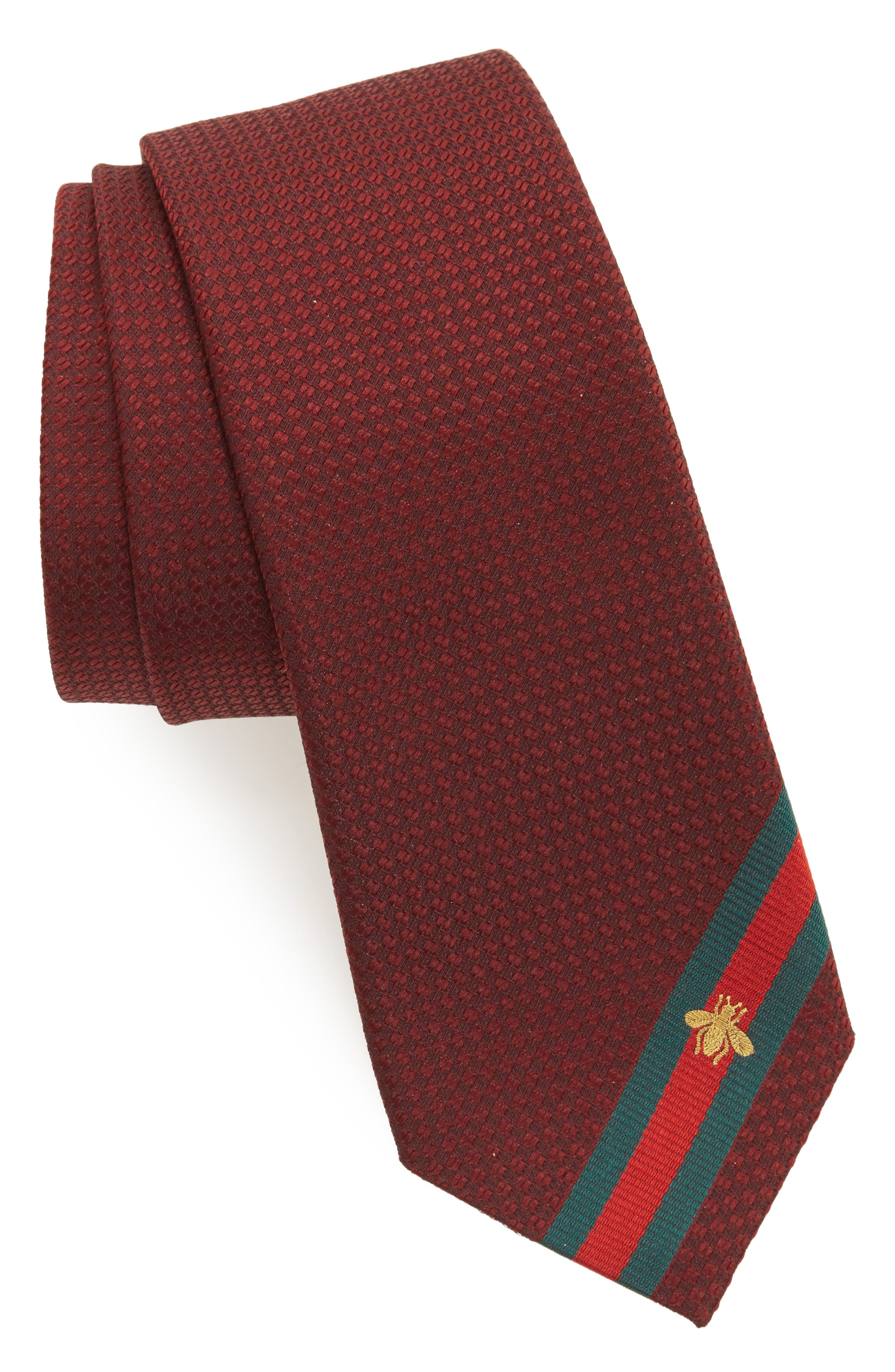 Silk Tie,                             Main thumbnail 1, color,                             Red