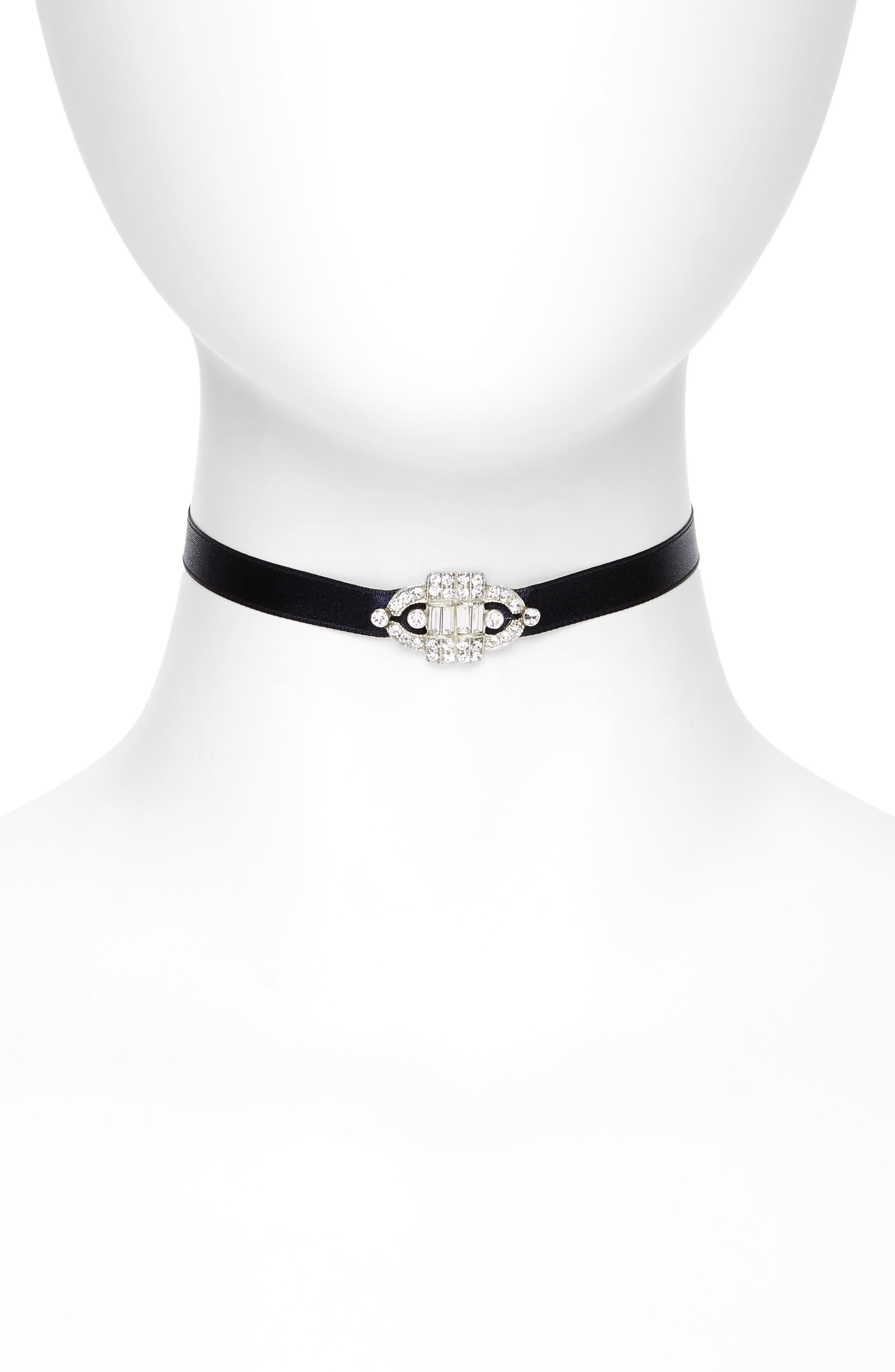 Ben-Amun Deco Satin Choker Necklace