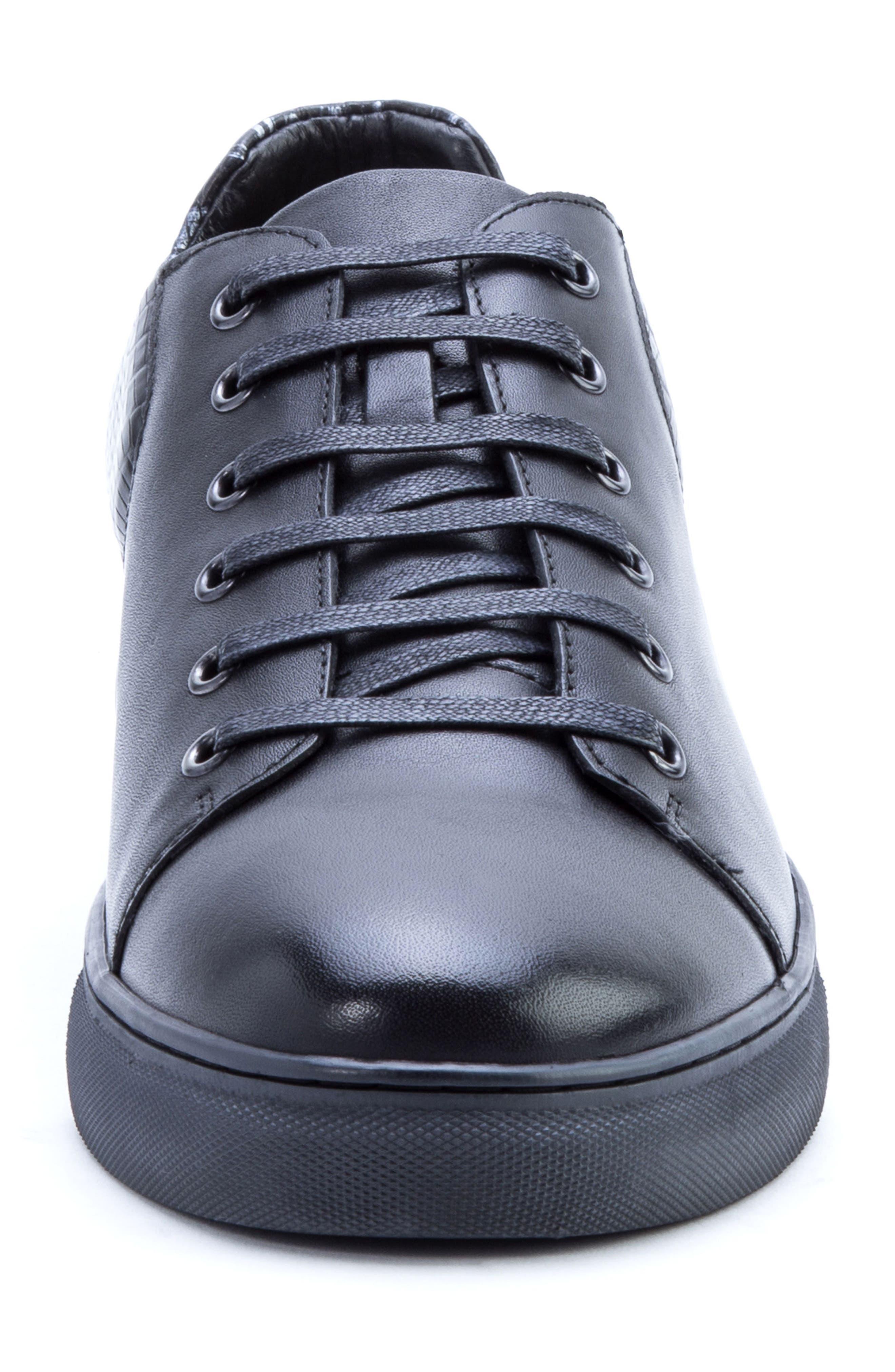 Robinson Sneaker,                             Alternate thumbnail 4, color,                             Black Leather