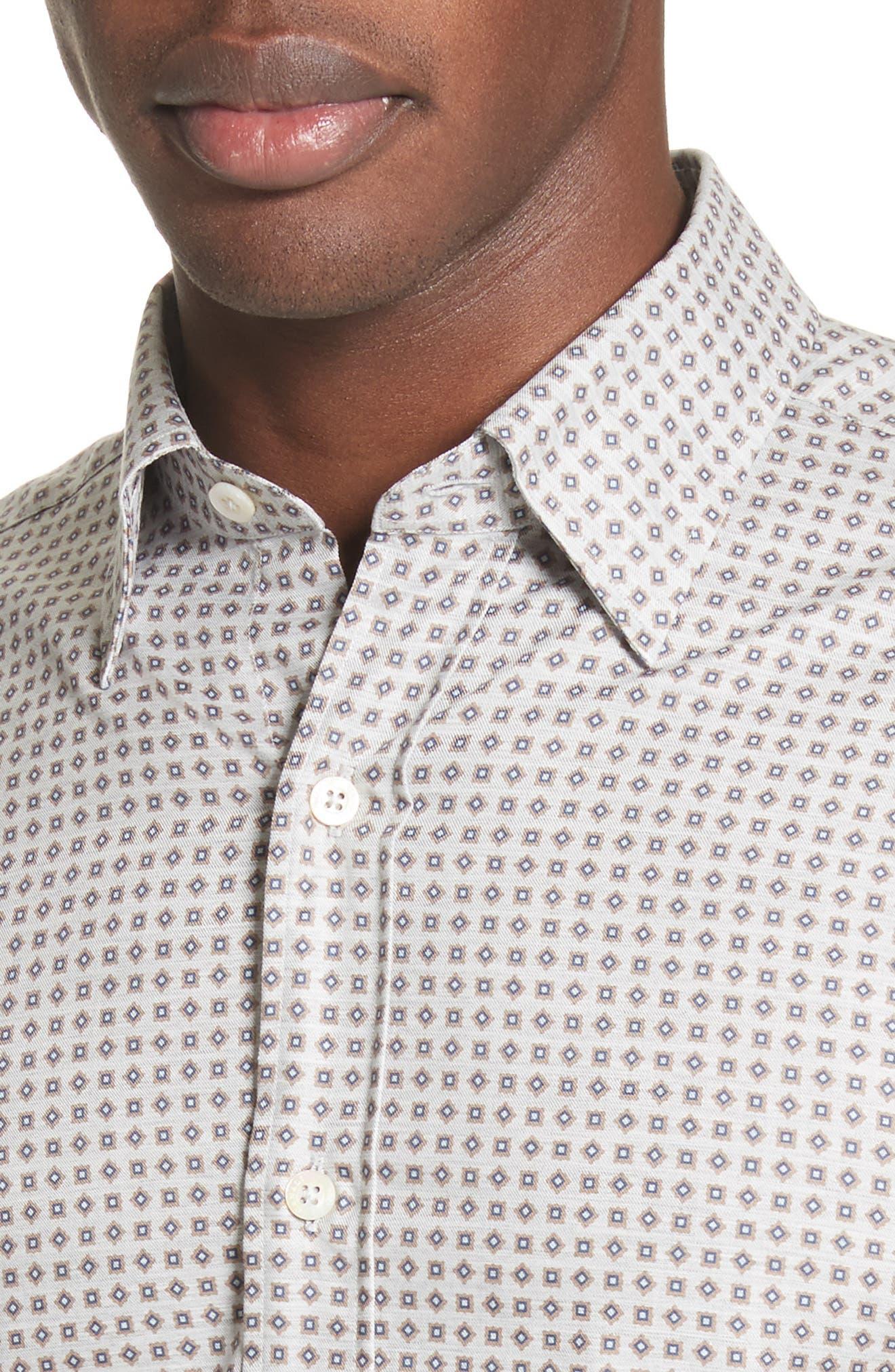 Alternate Image 4  - Canali Geo Sport Shirt