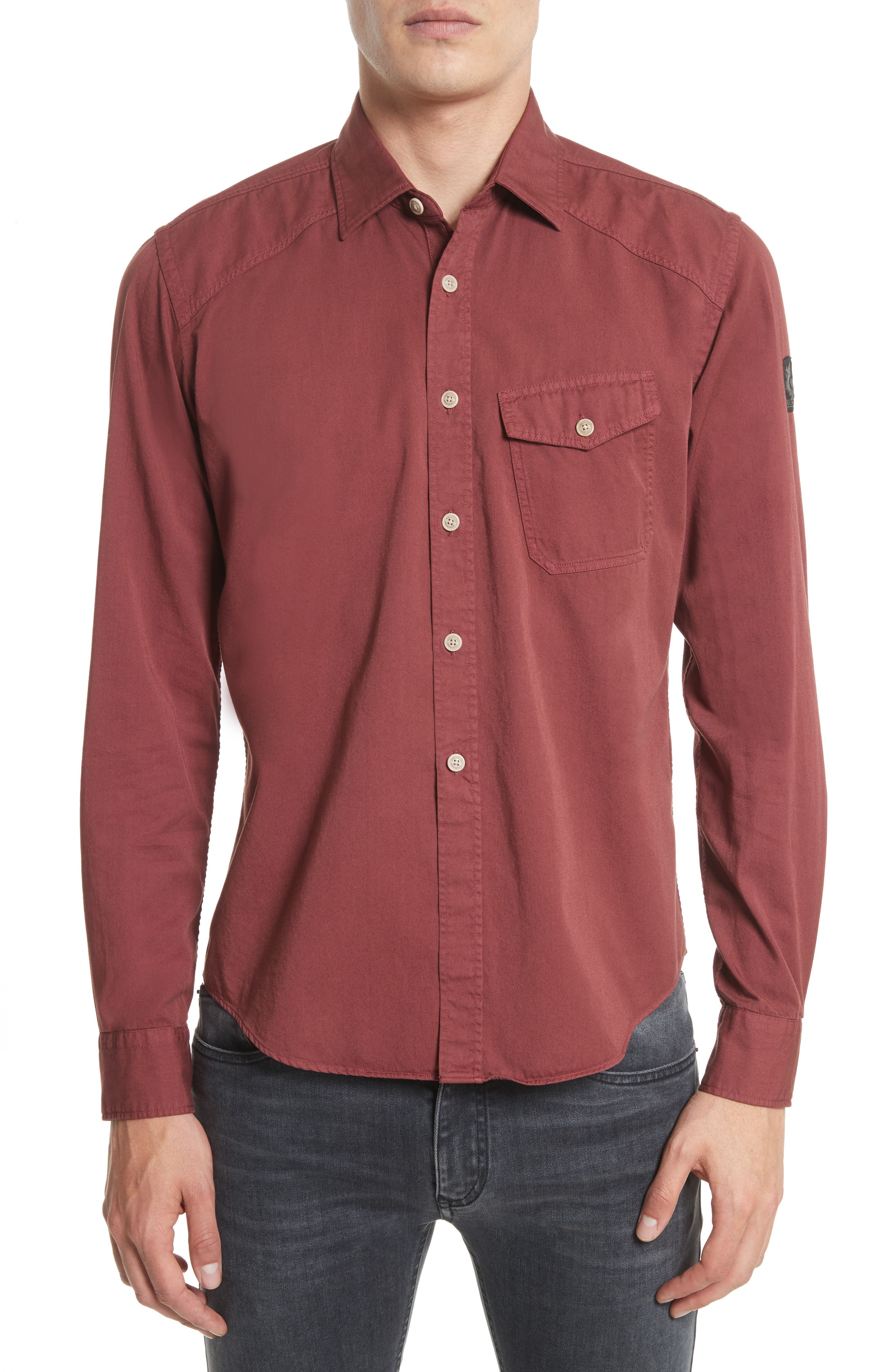 Main Image - Belstaff Steadway Extra Slim Fit Sport Shirt