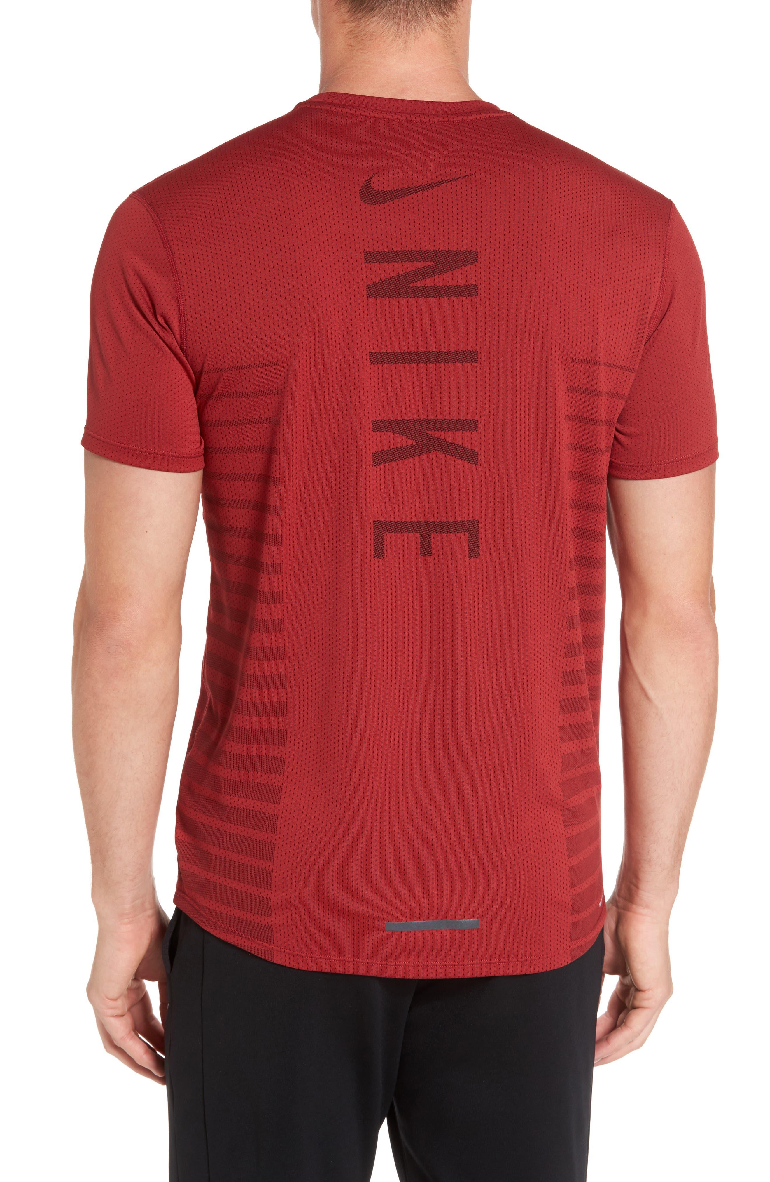 Alternate Image 2  - Nike Mesh Running T-Shirt