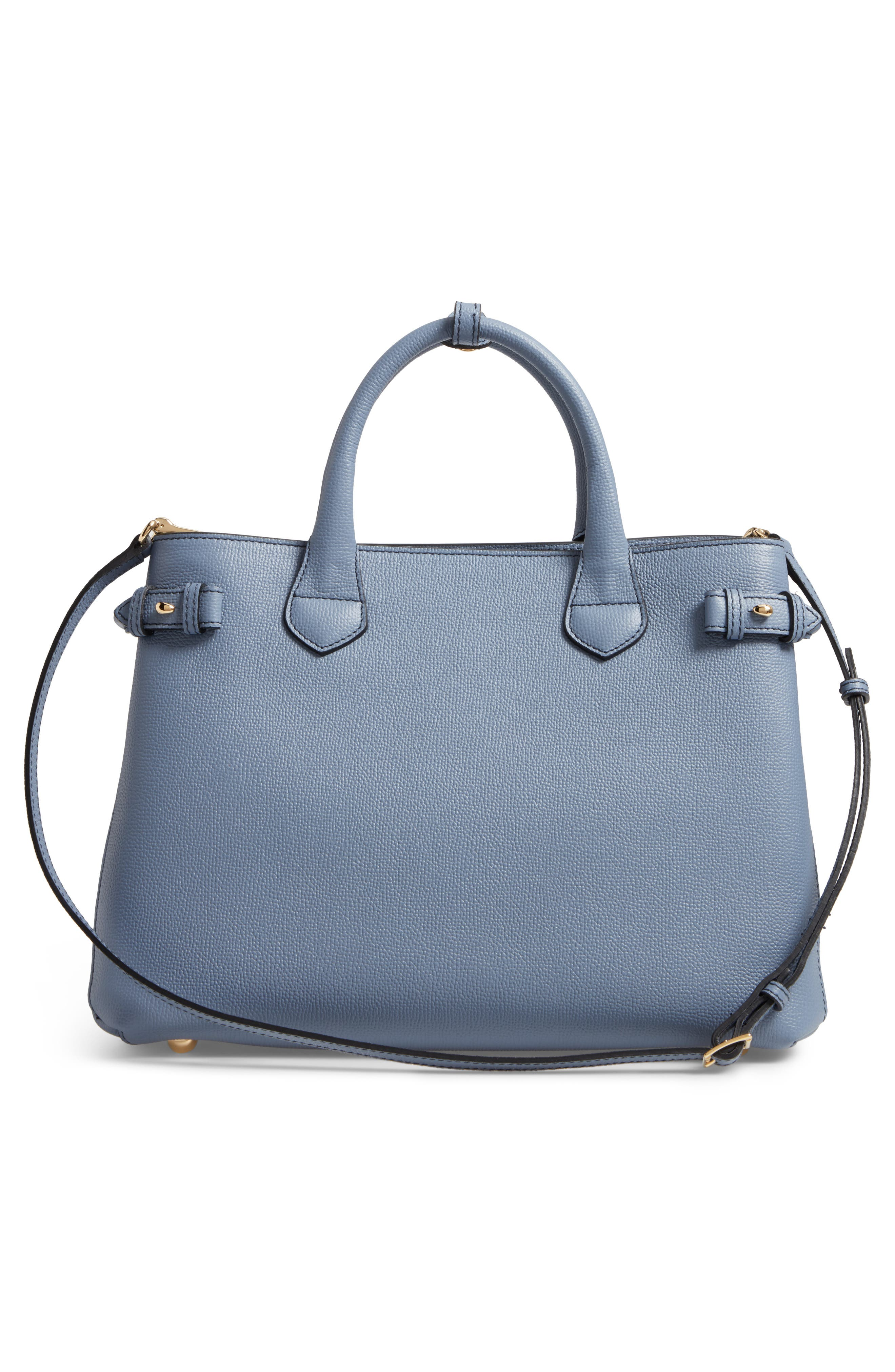 Alternate Image 3  - Burberry Medium Banner House Check Leather Tote