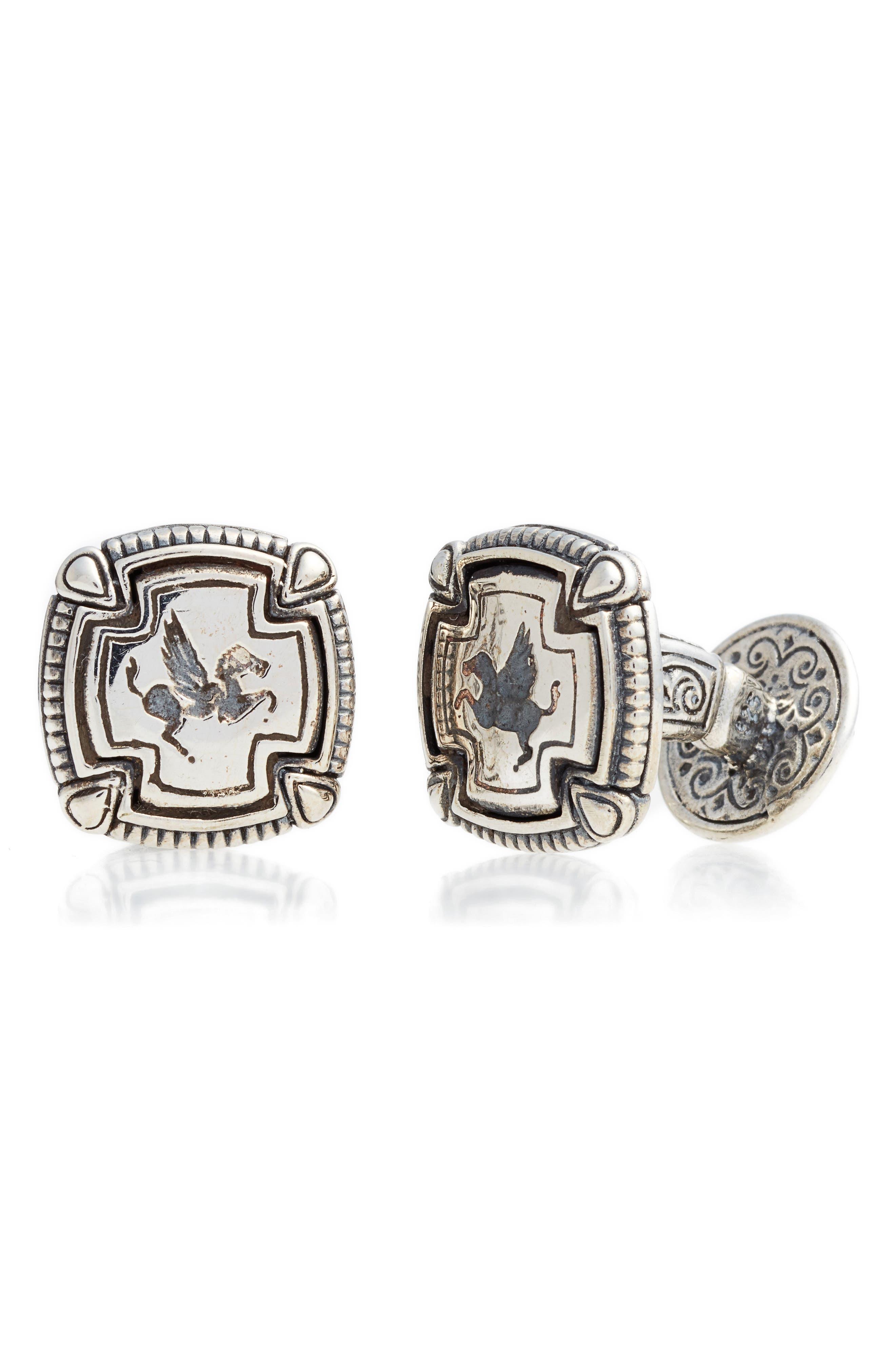 Classics Cuff Links,                         Main,                         color, Silver