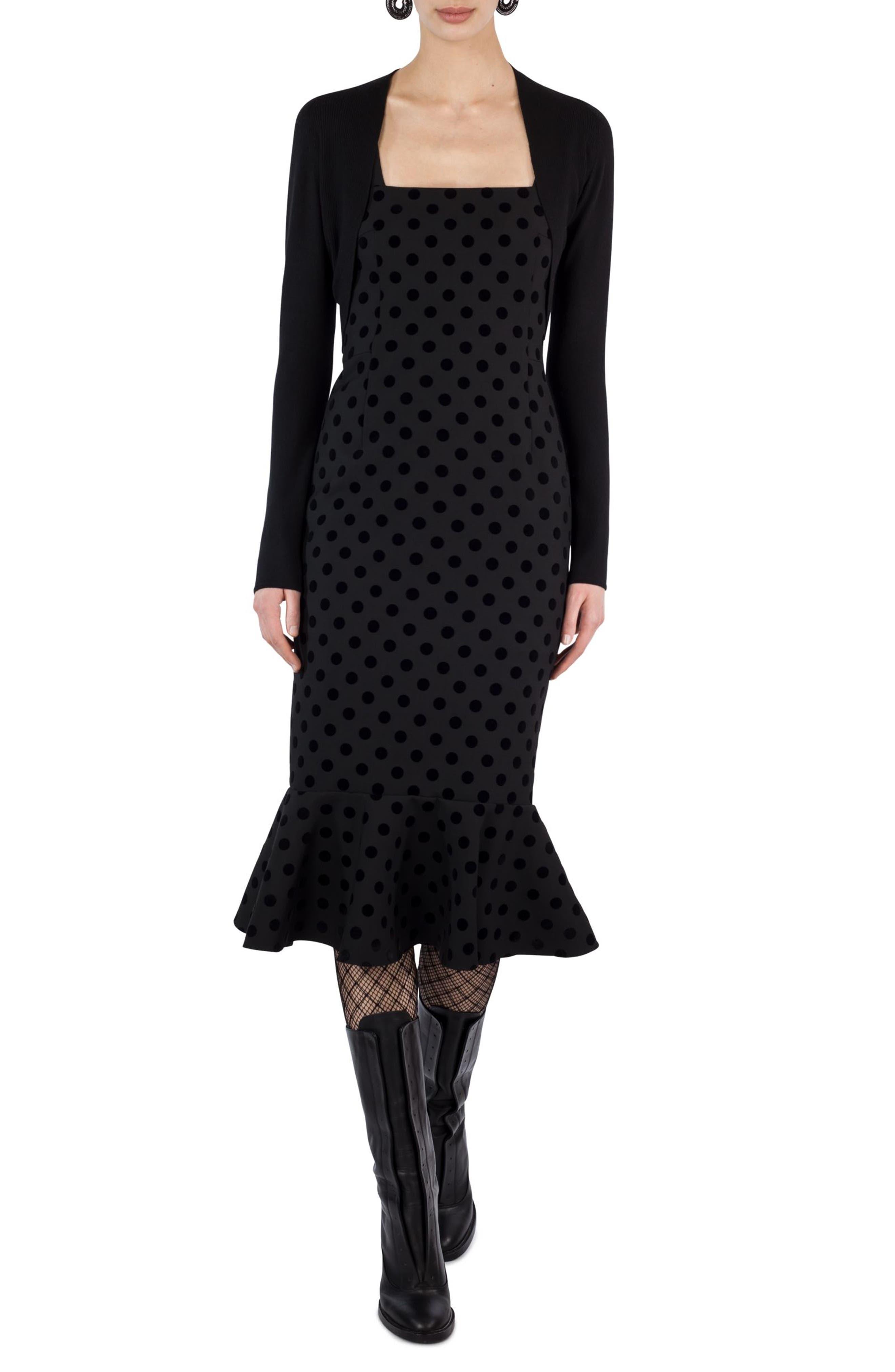 Alternate Image 2  - Akris punto Velvet Dot Dress
