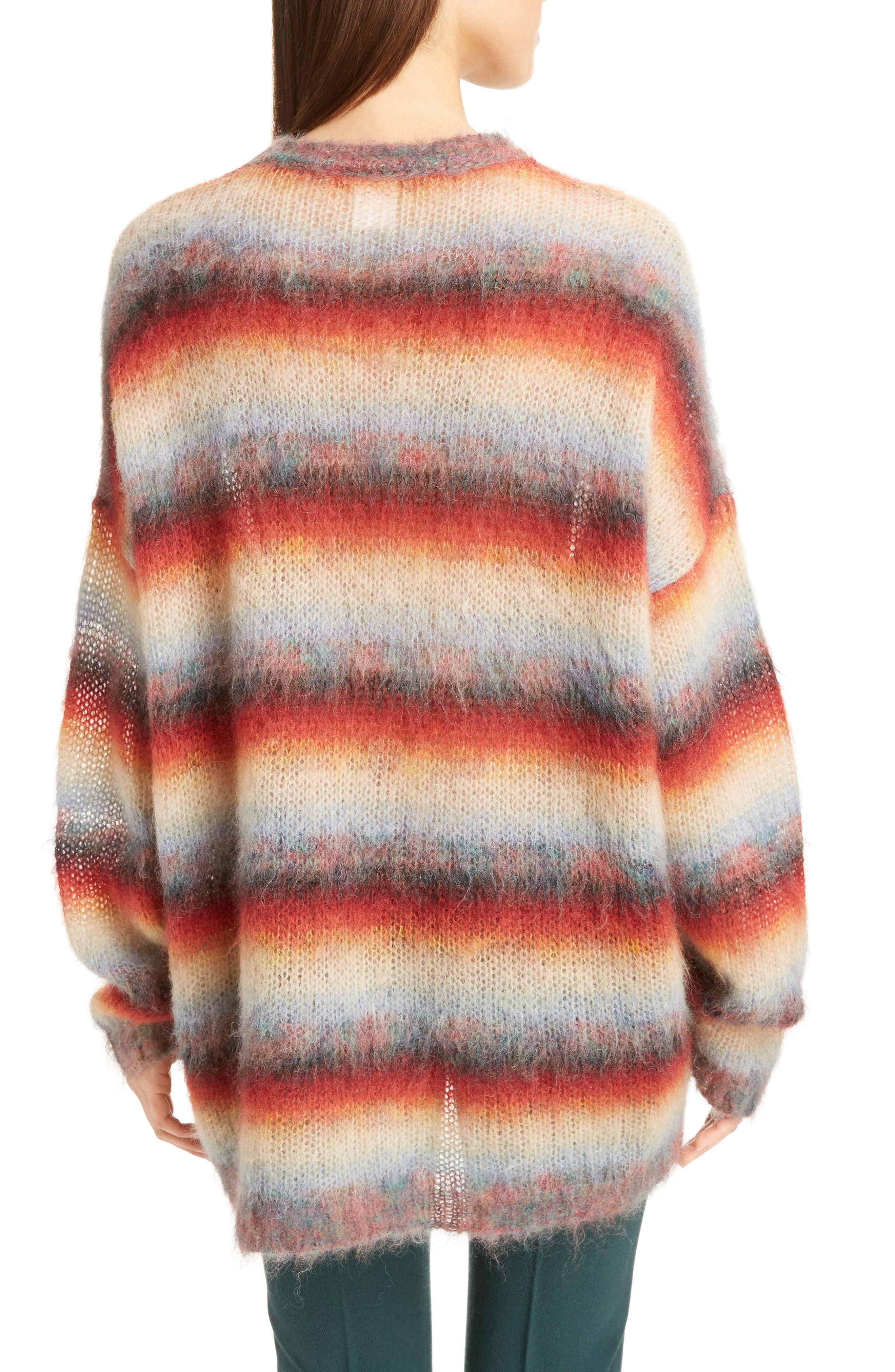 Mohair Blend Dégradé Stripe Sweater,                             Alternate thumbnail 2, color,                             Multi