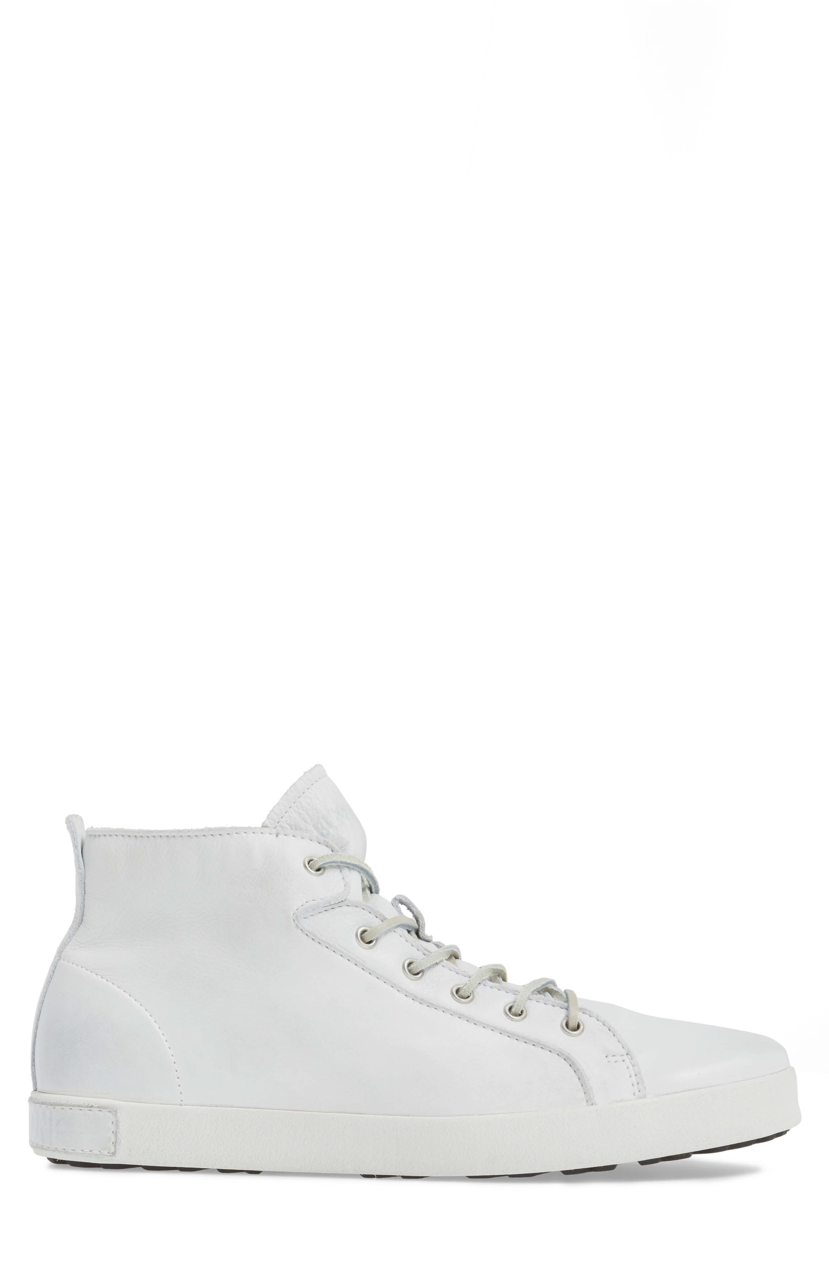 'JM03' Sneaker,                             Alternate thumbnail 3, color,                             White Leather