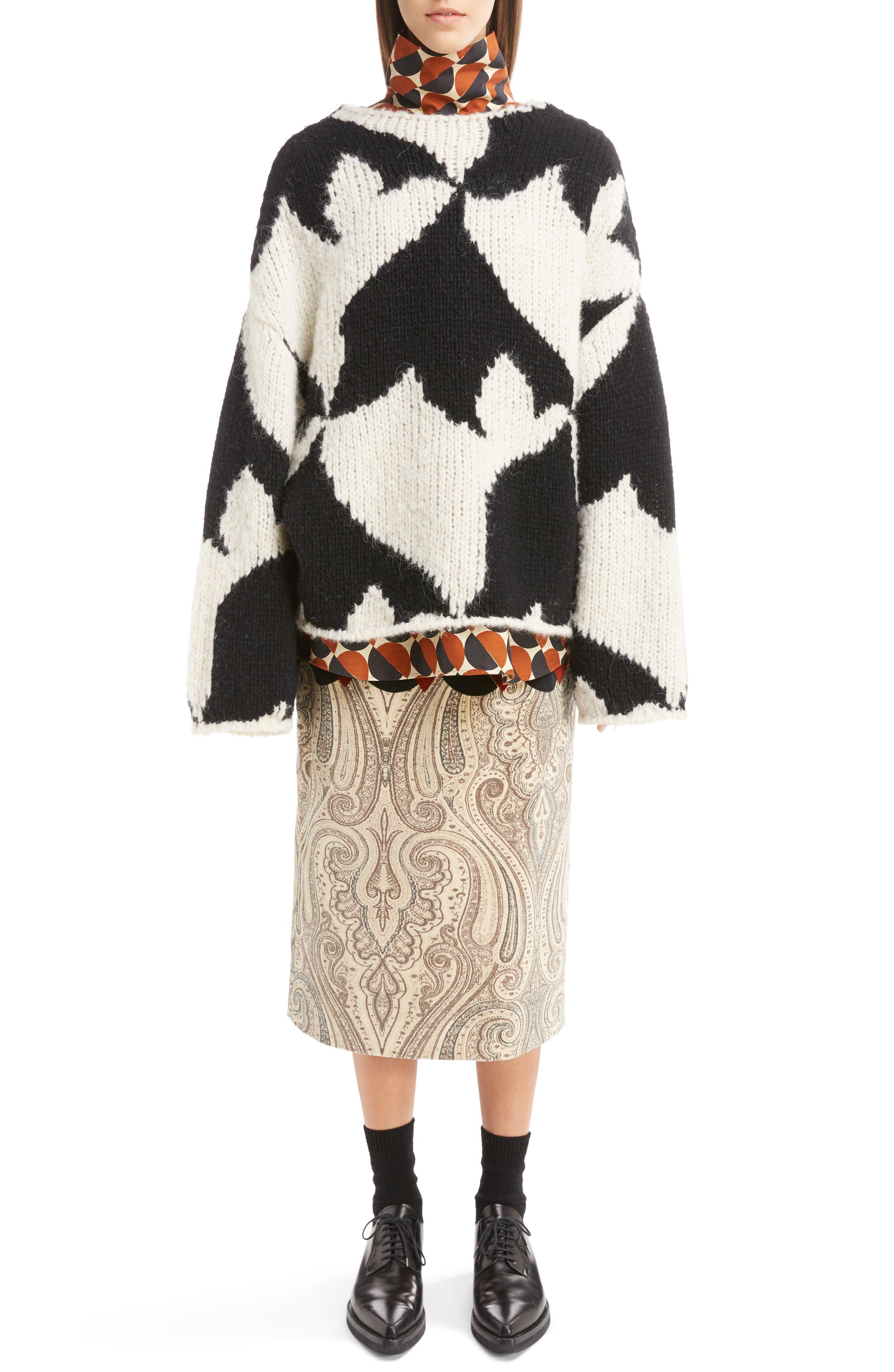Alternate Image 6  - Dries Van Noten Geo Intarsia Wool Blend Sweater