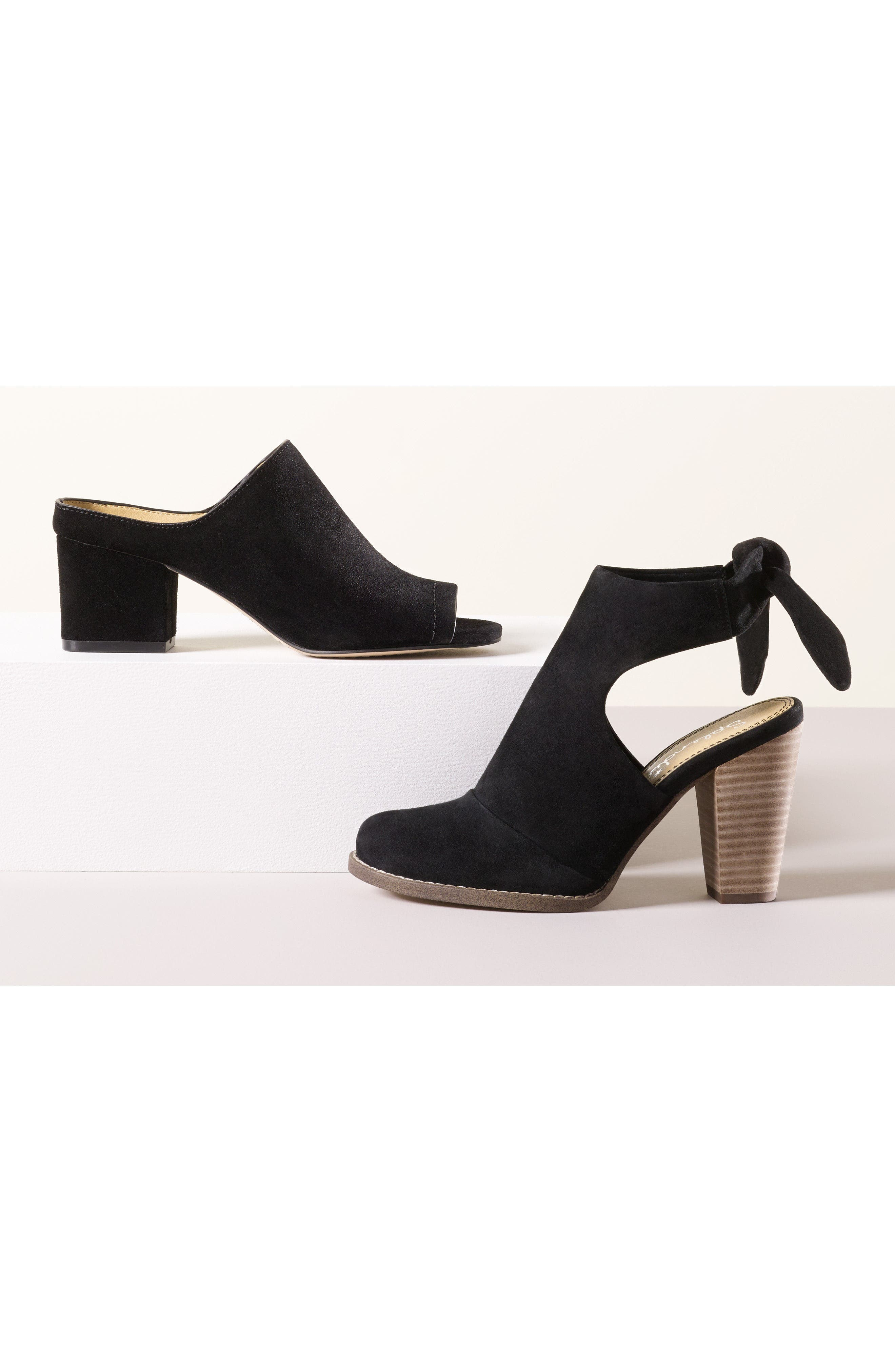 Danae Stacked Heel Bootie,                             Alternate thumbnail 2, color,