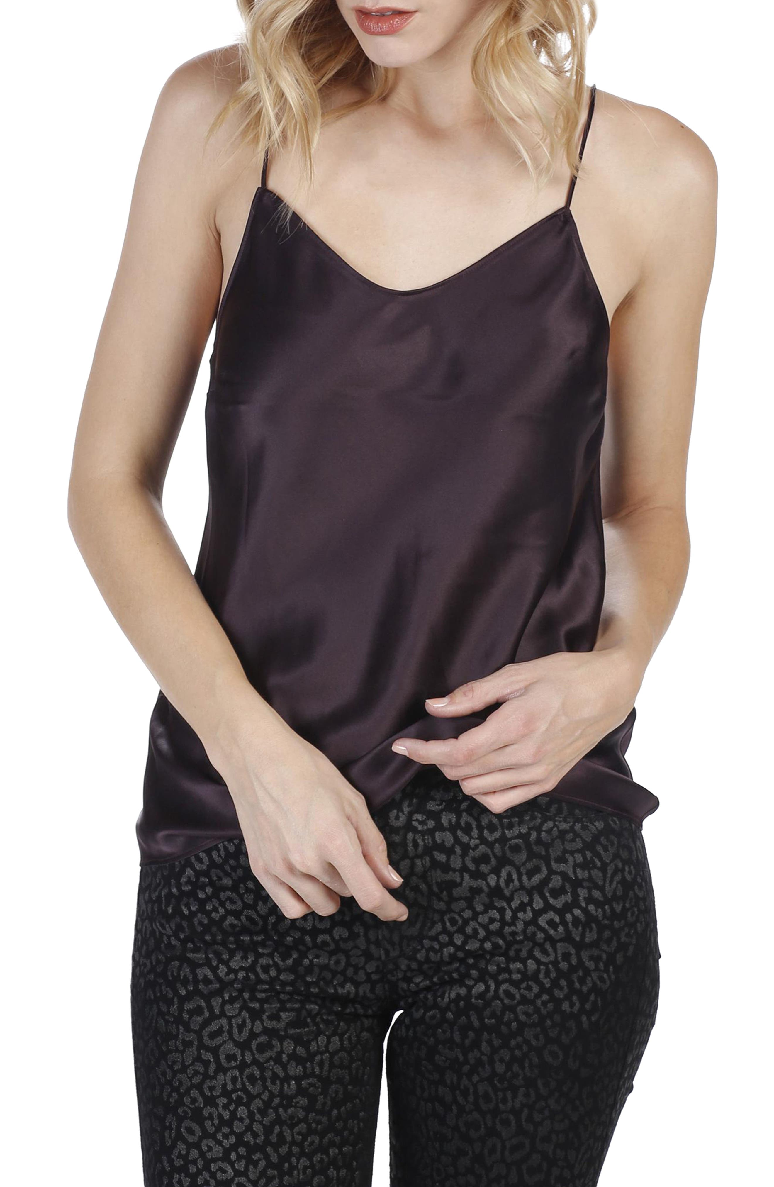 Cicely Camisole,                         Main,                         color, Black Cherry