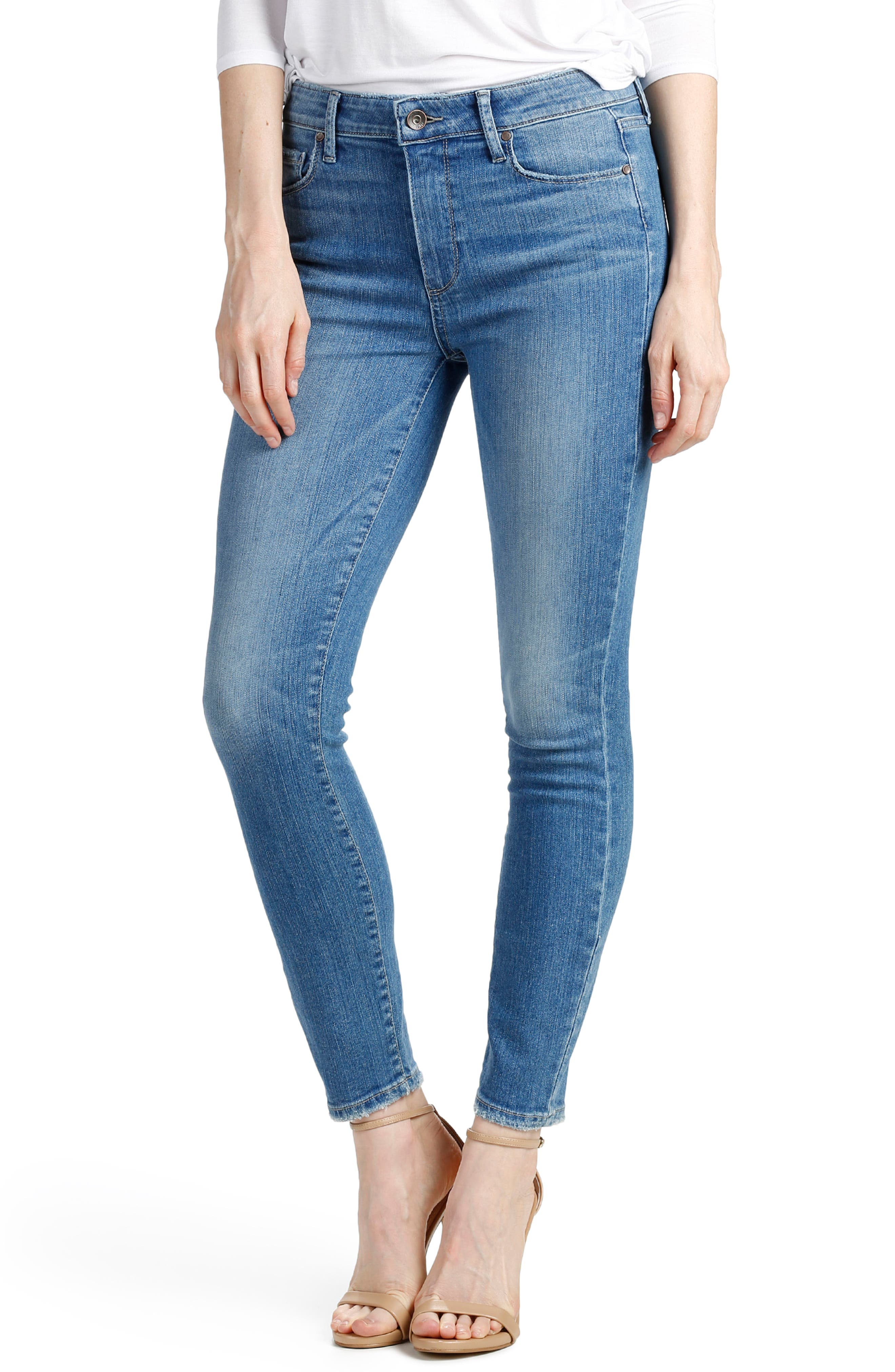 Alternate Image 1 Selected - PAIGE Hoxton High Waist Ankle Skinny Jeans (Evelina)