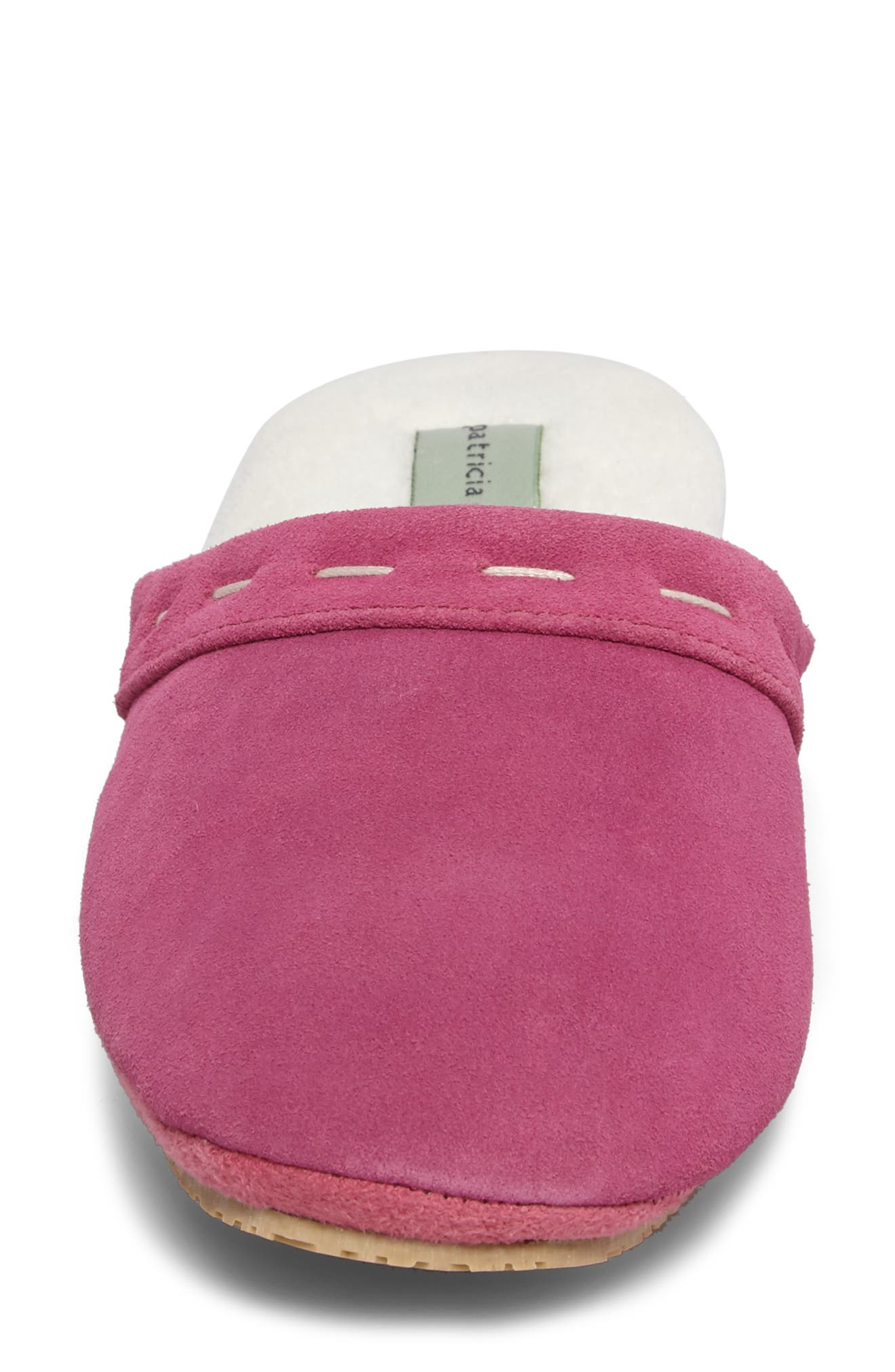 Mayfair Wedge Slipper,                             Alternate thumbnail 4, color,                             Hot Pink Suede