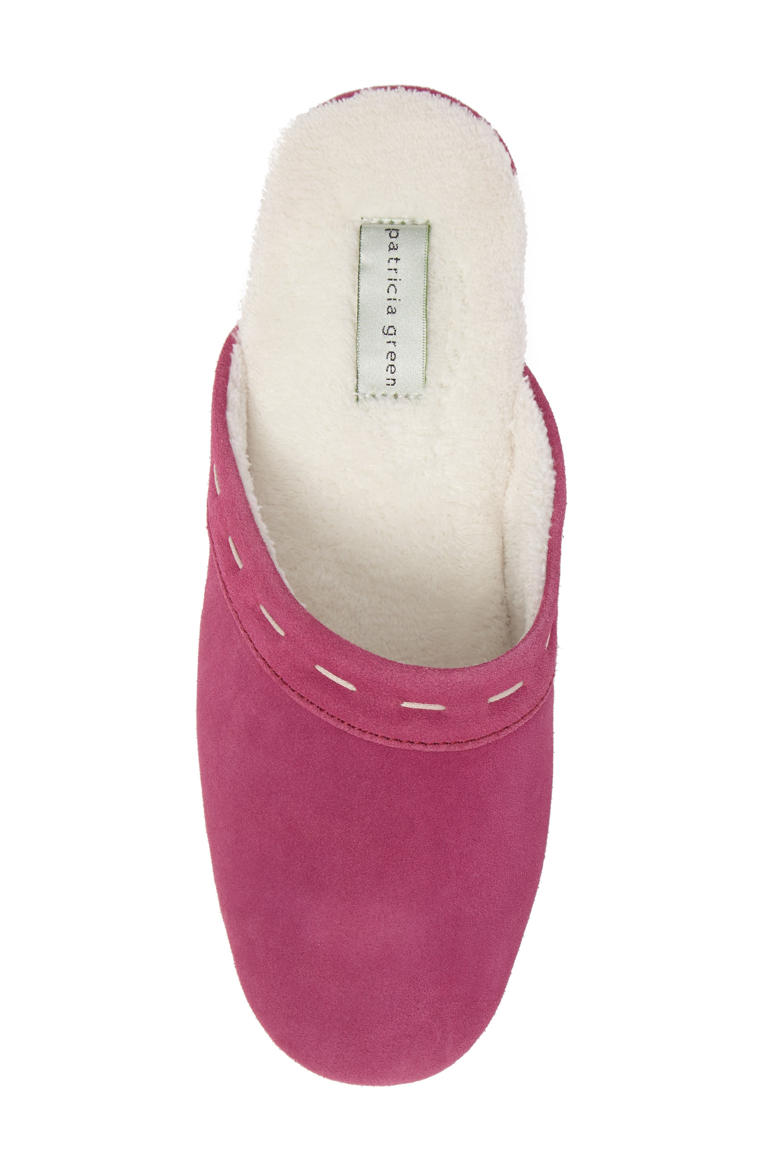 Mayfair Wedge Slipper,                             Alternate thumbnail 5, color,                             Hot Pink Suede