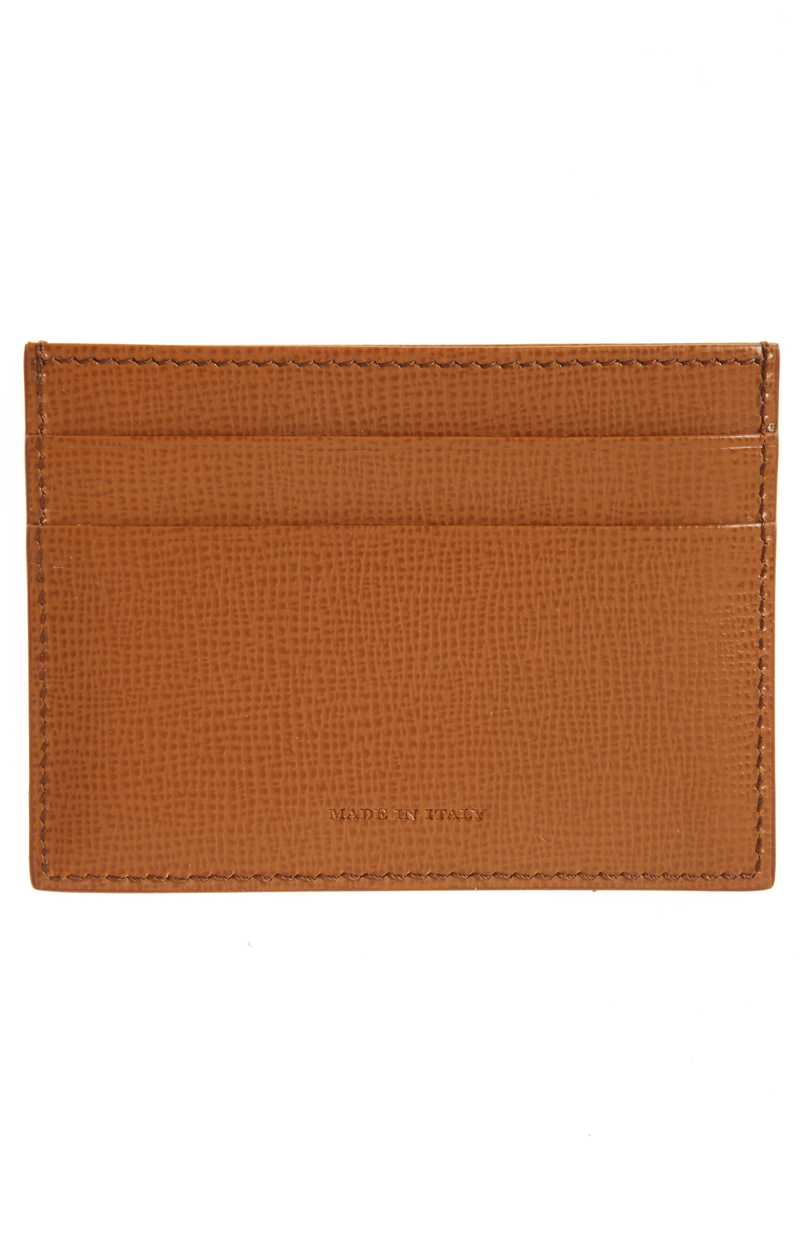 Alternate Image 2  - Burberry Sandon Leather Card Case