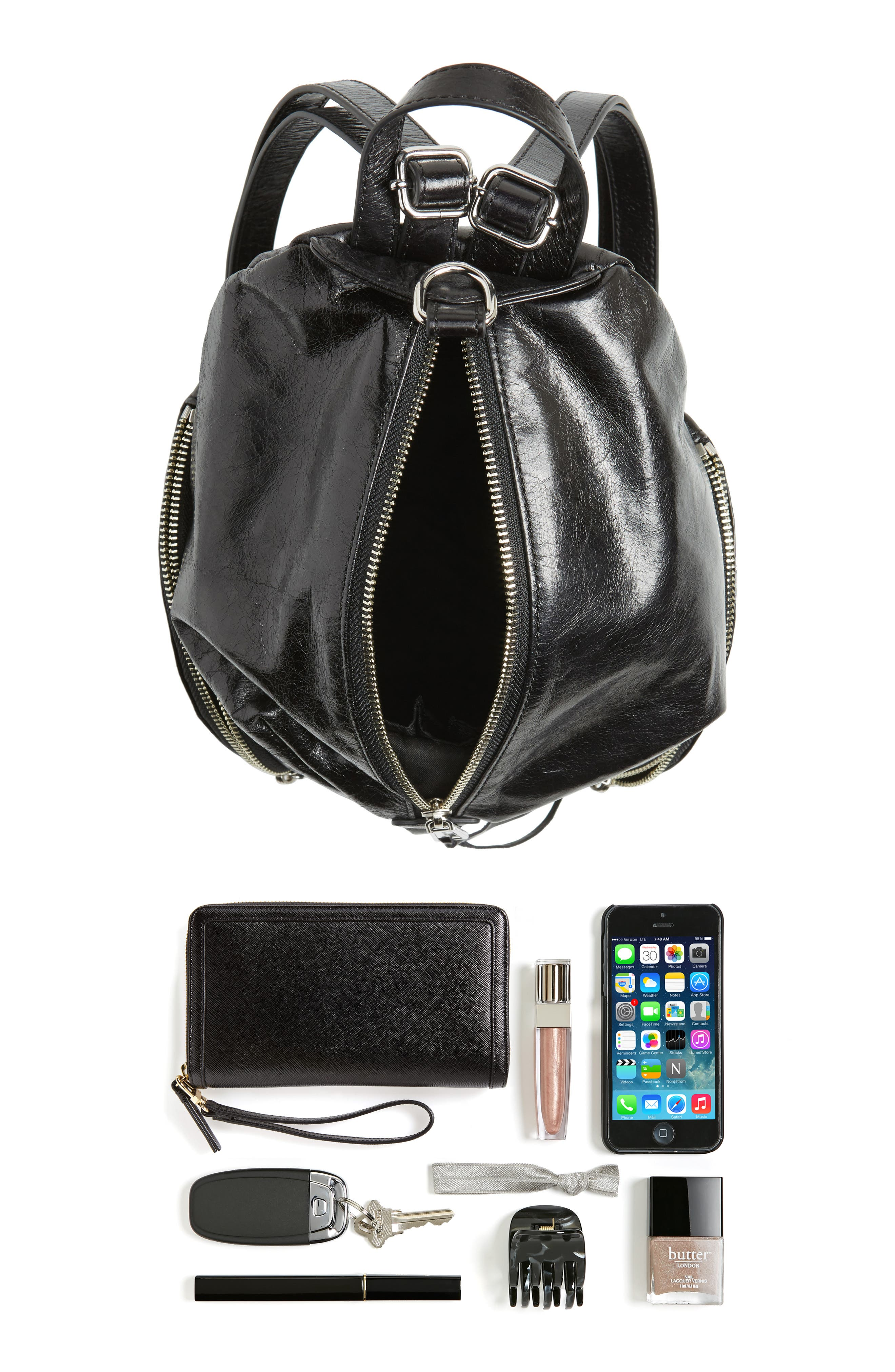Alternate Image 6  - Rebecca Minkoff Medium Julian Leather Backpack
