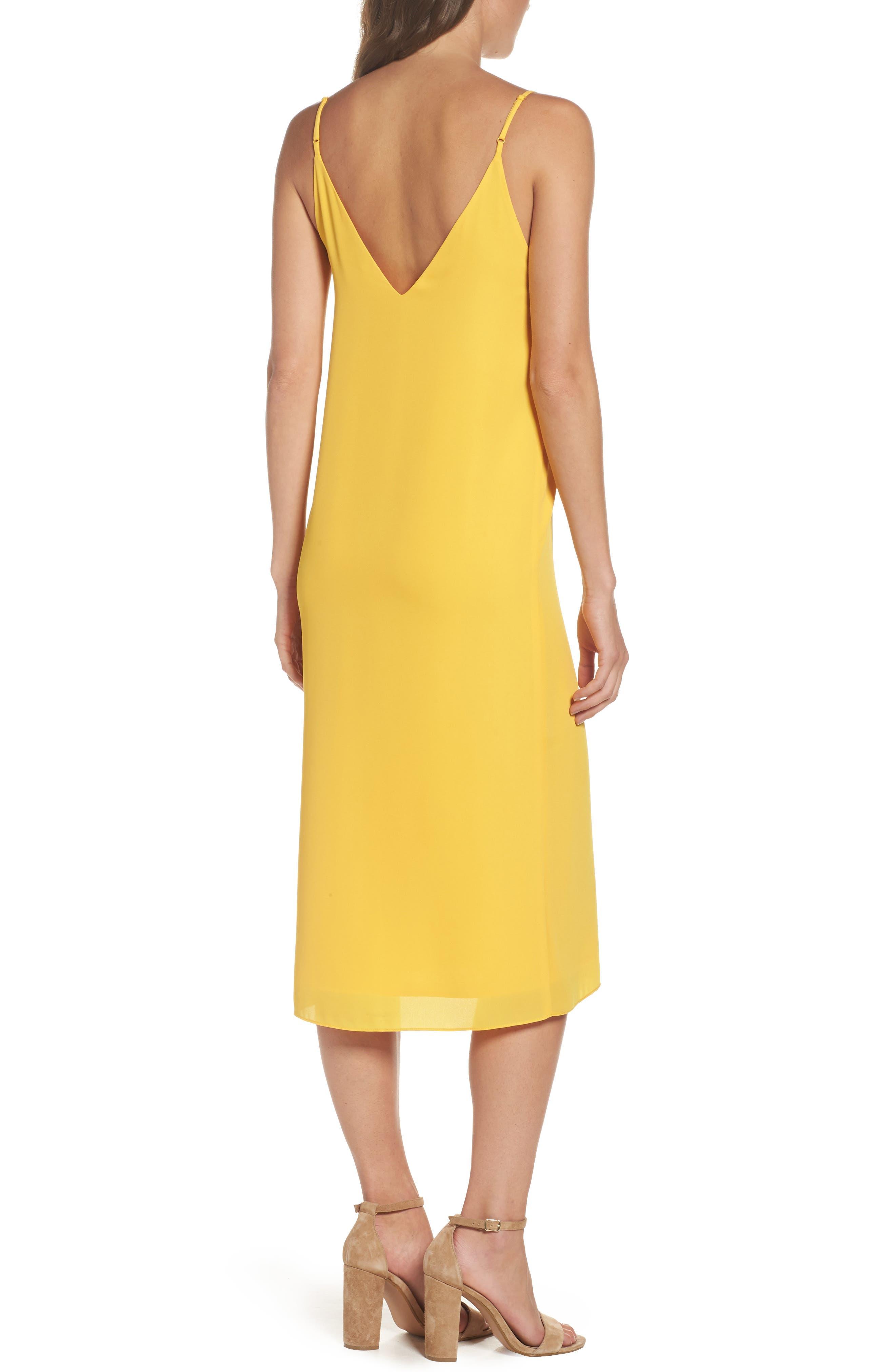 Dobby Midi Dress,                             Alternate thumbnail 2, color,                             Golden