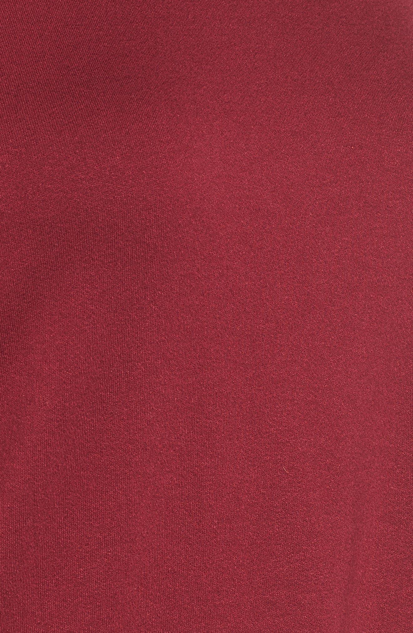 Knit Cold Shoulder Tee,                             Alternate thumbnail 5, color,                             Burgundy