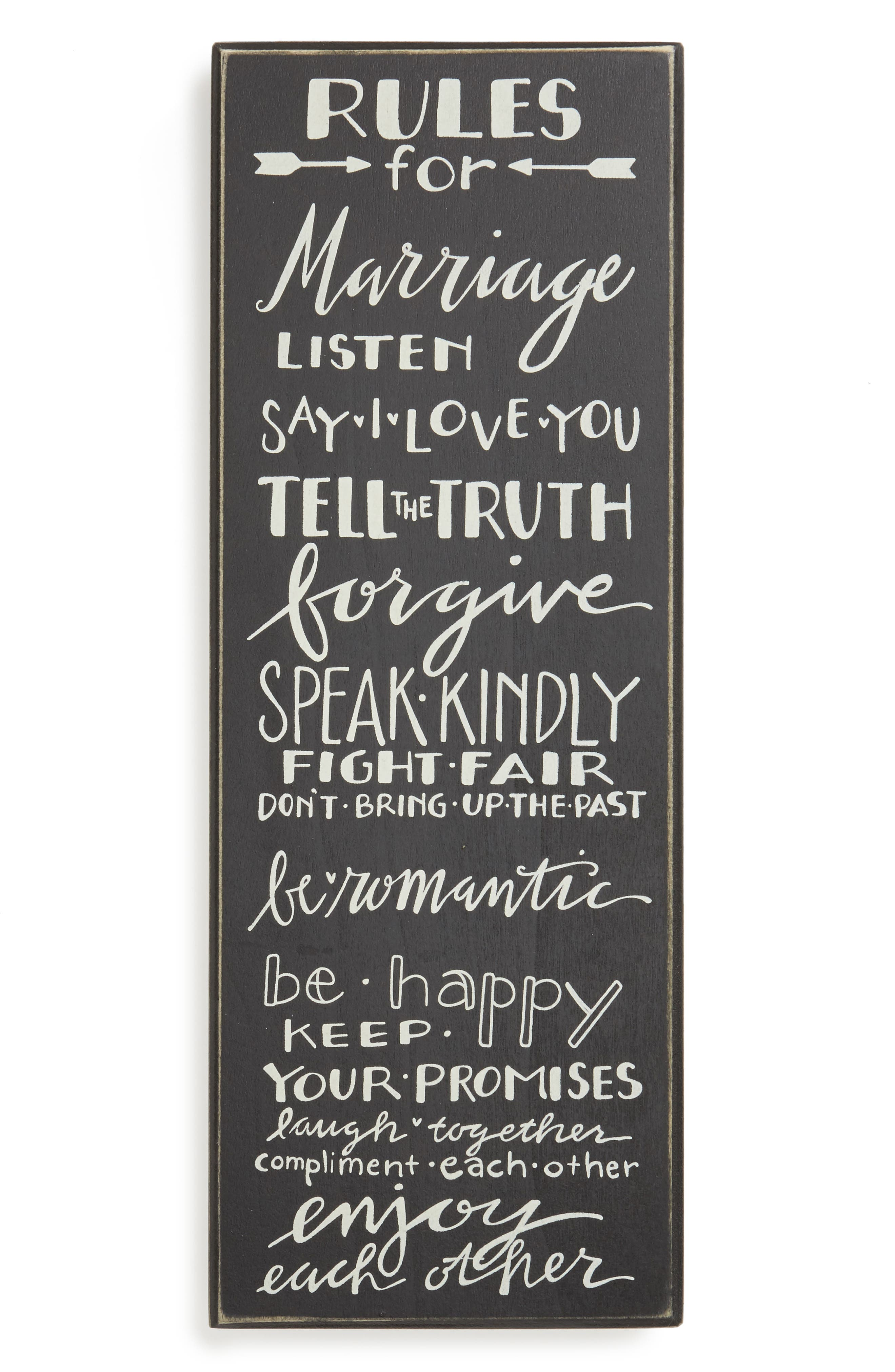 Alternate Image 1 Selected - Primitives by Kathy Rules for Marriage Box Sign