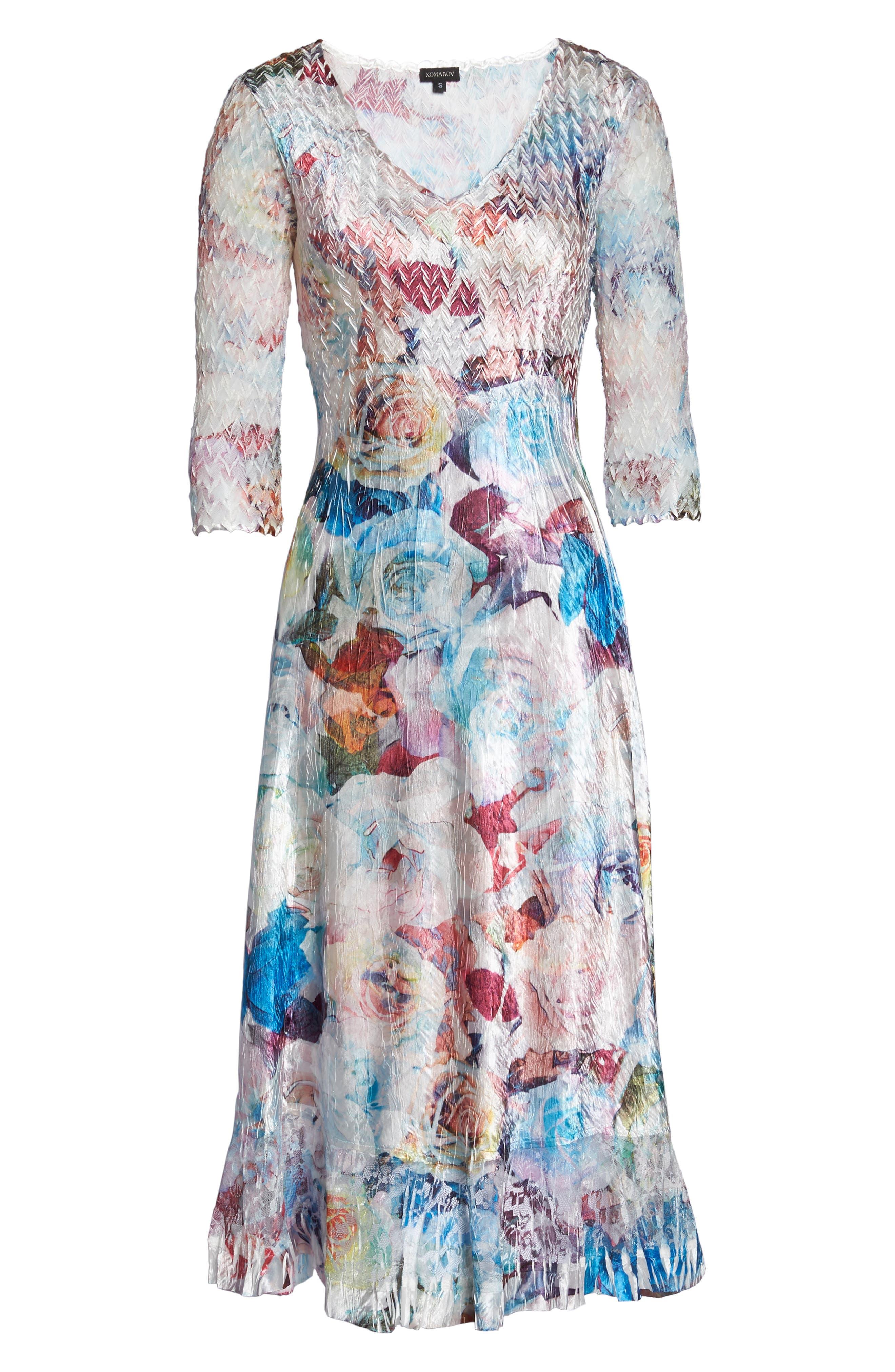A-Line Dress,                             Alternate thumbnail 6, color,                             Summer Eden