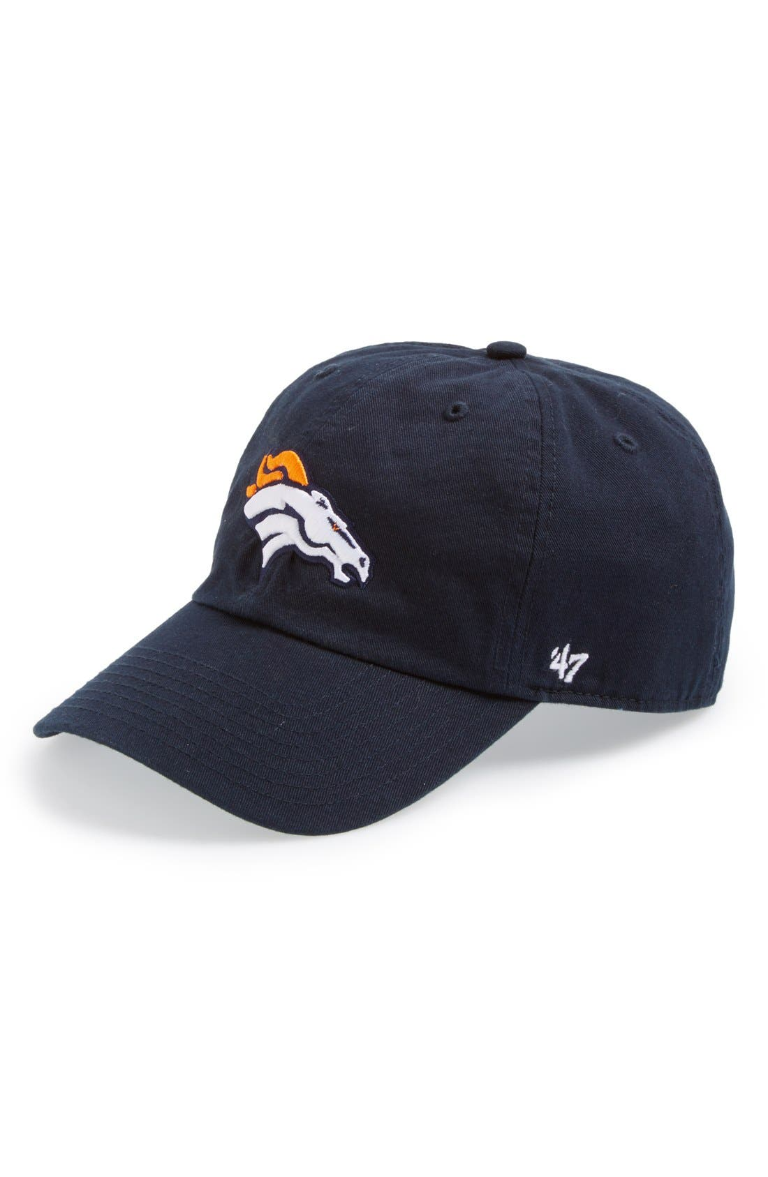 'Denver Broncos - Clean Up' Cap,                             Main thumbnail 1, color,                             Navy