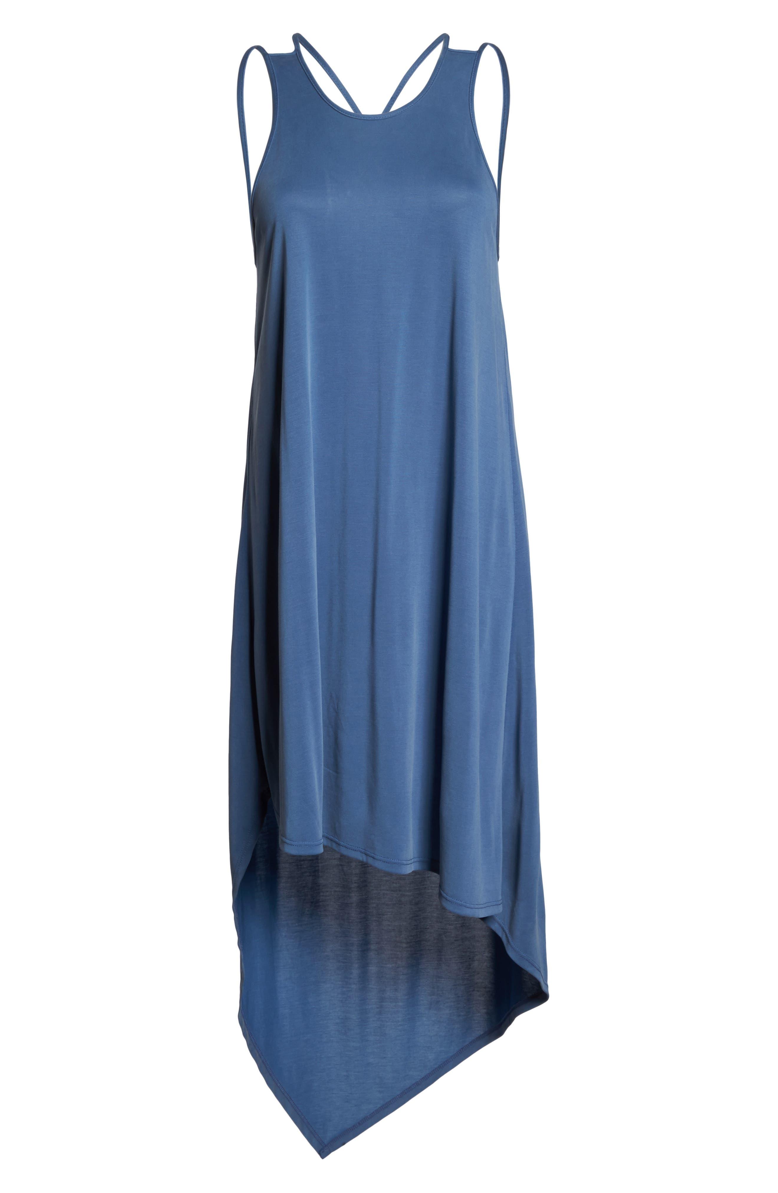 Alternate Image 6  - BCBGMAXAZRIA Asymmetrical Modal Blend Dress