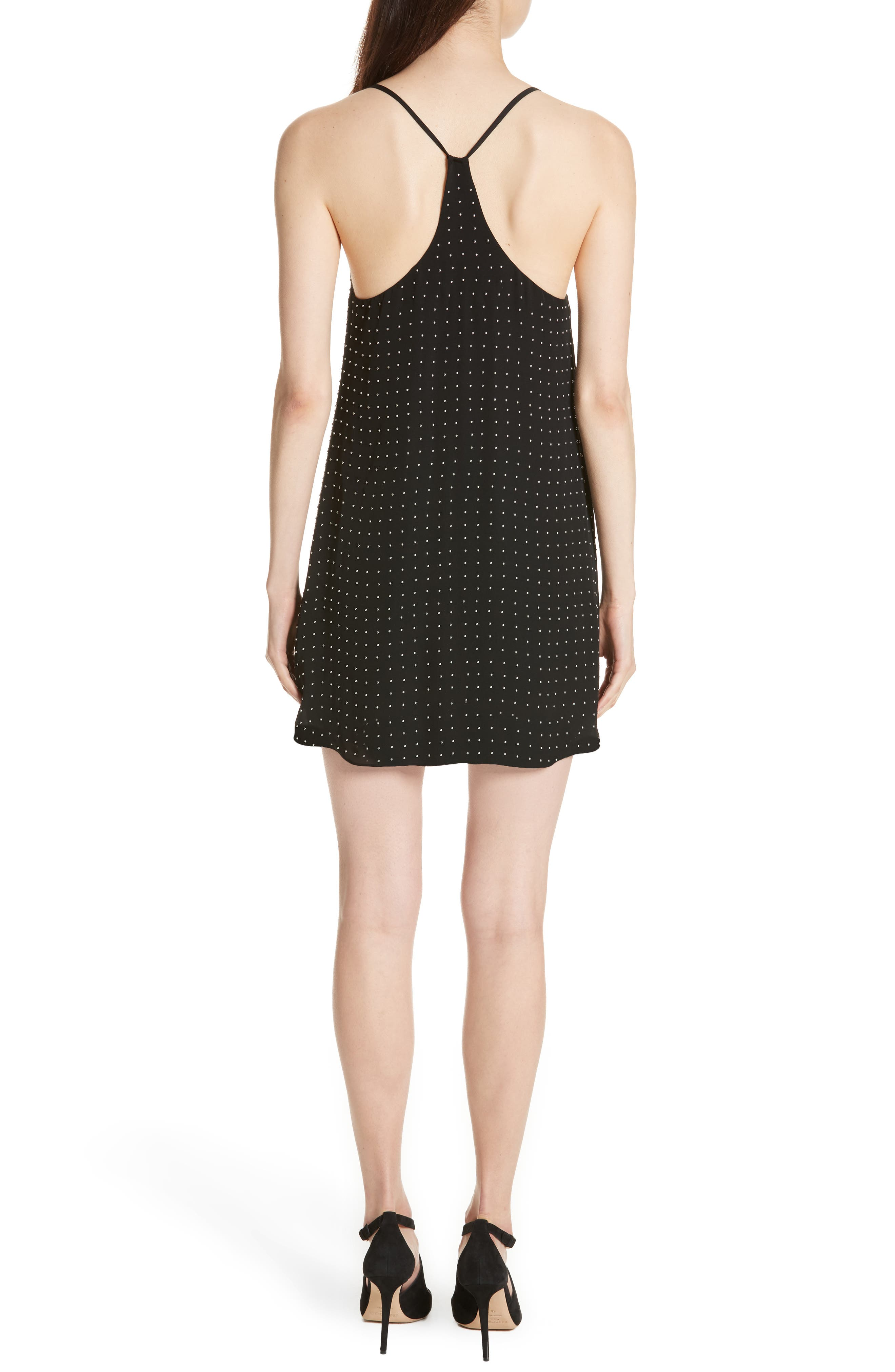 Alternate Image 2  - Alice + Olivia Jameson Studded Y-Back Silk Slipdress