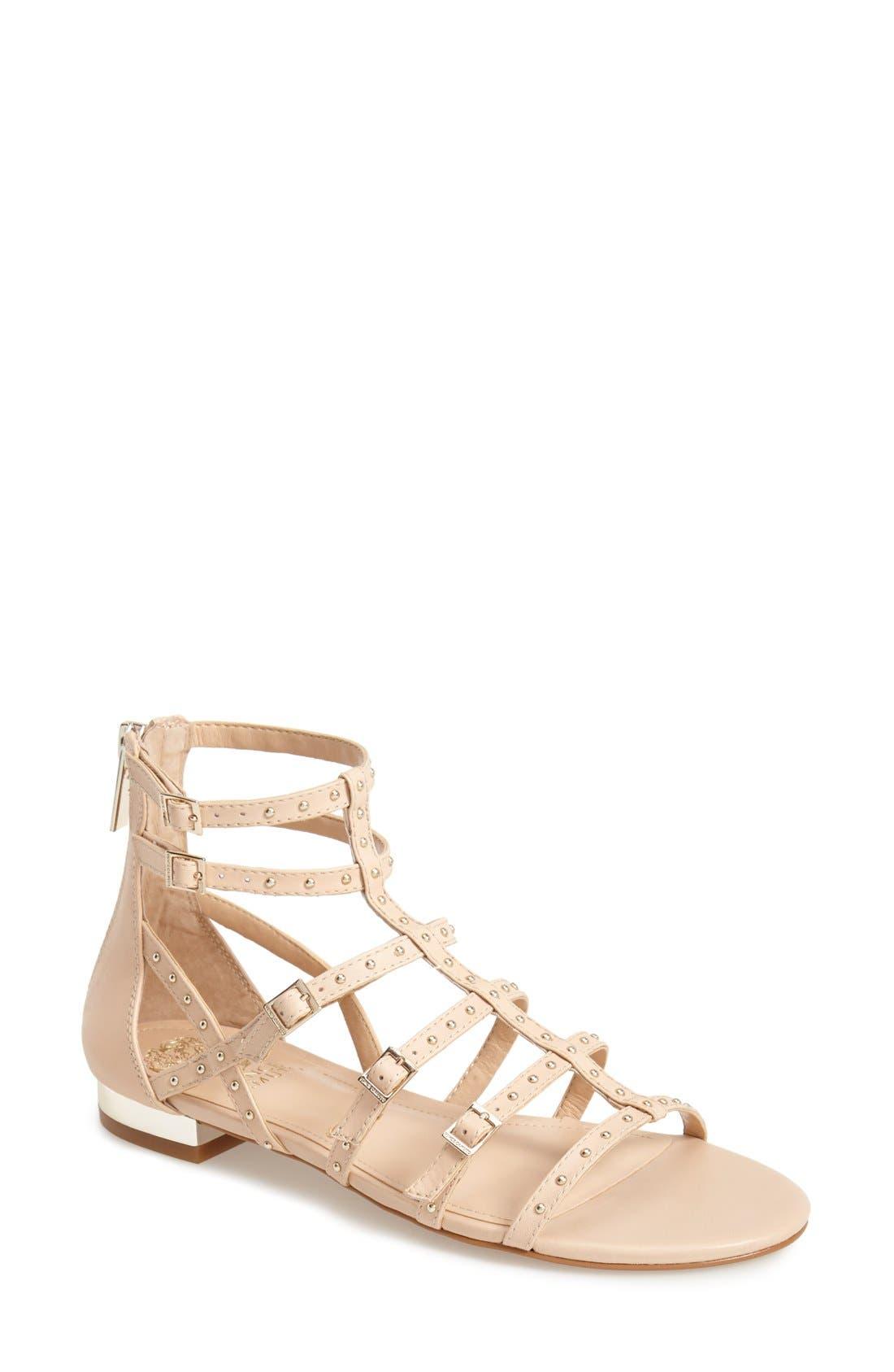 Alternate Image 1 Selected - Vince Camuto 'Hevelli' Studded Leather Gladiator Sandal (Women)