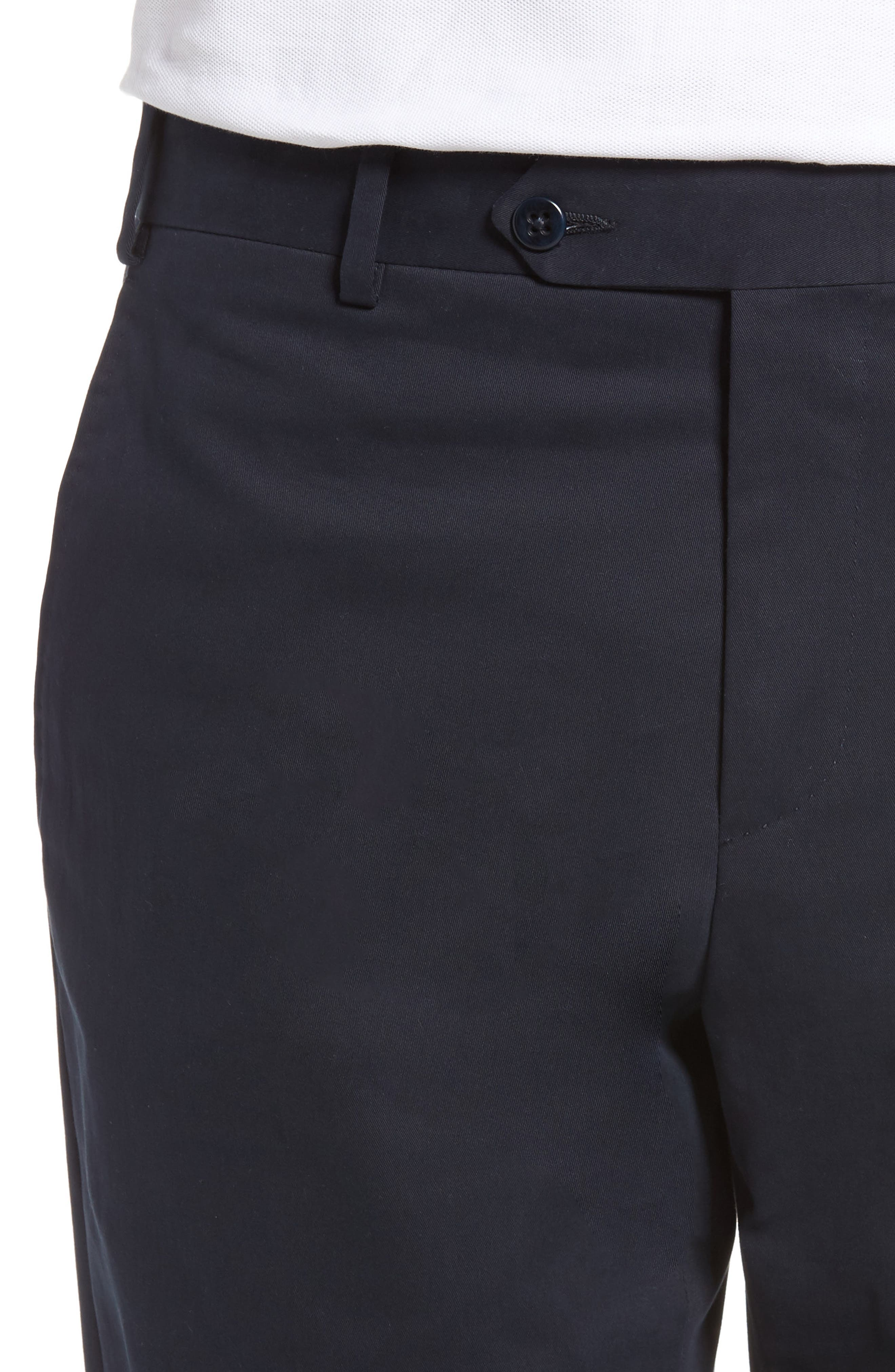 Alternate Image 4  - Zanella Parker Flat Front Solid Stretch Cotton Trousers