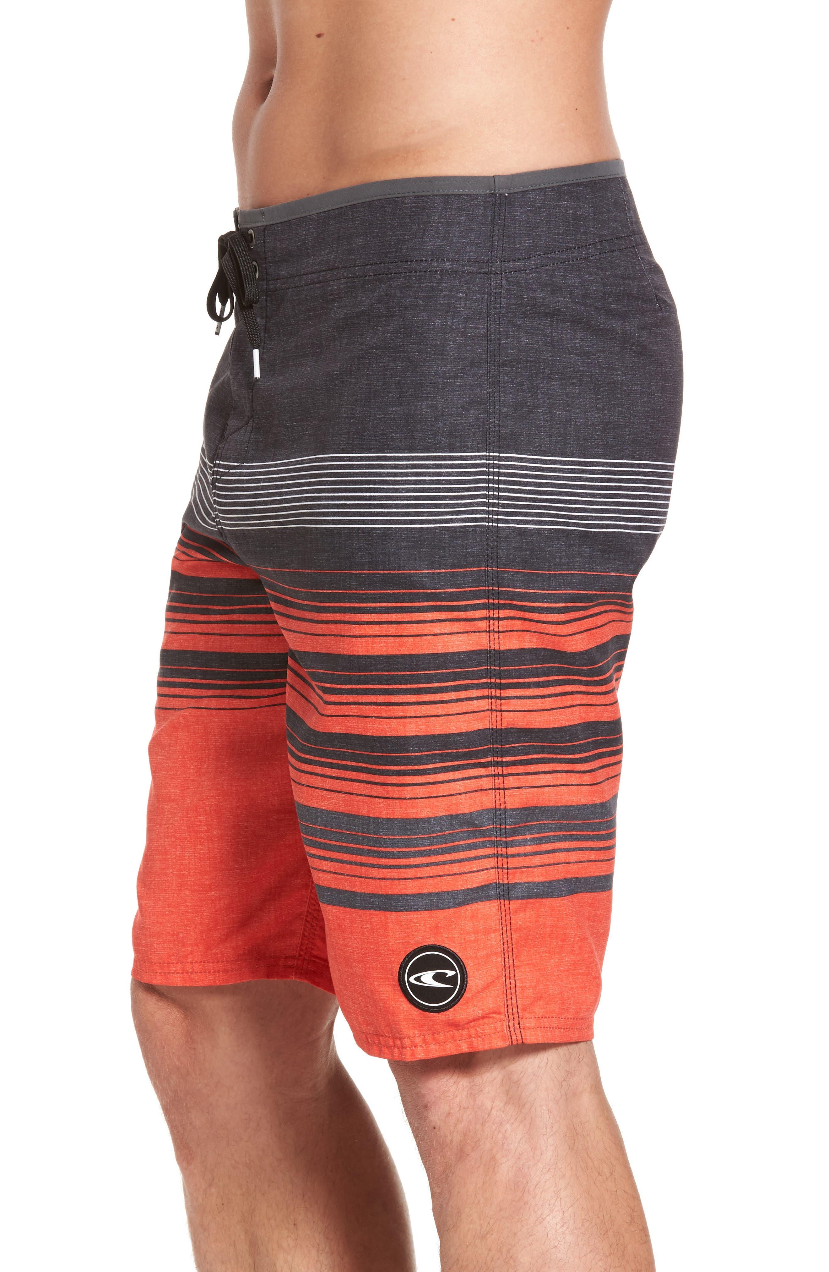 Lennox Board Shorts,                             Alternate thumbnail 3, color,                             Neon Red