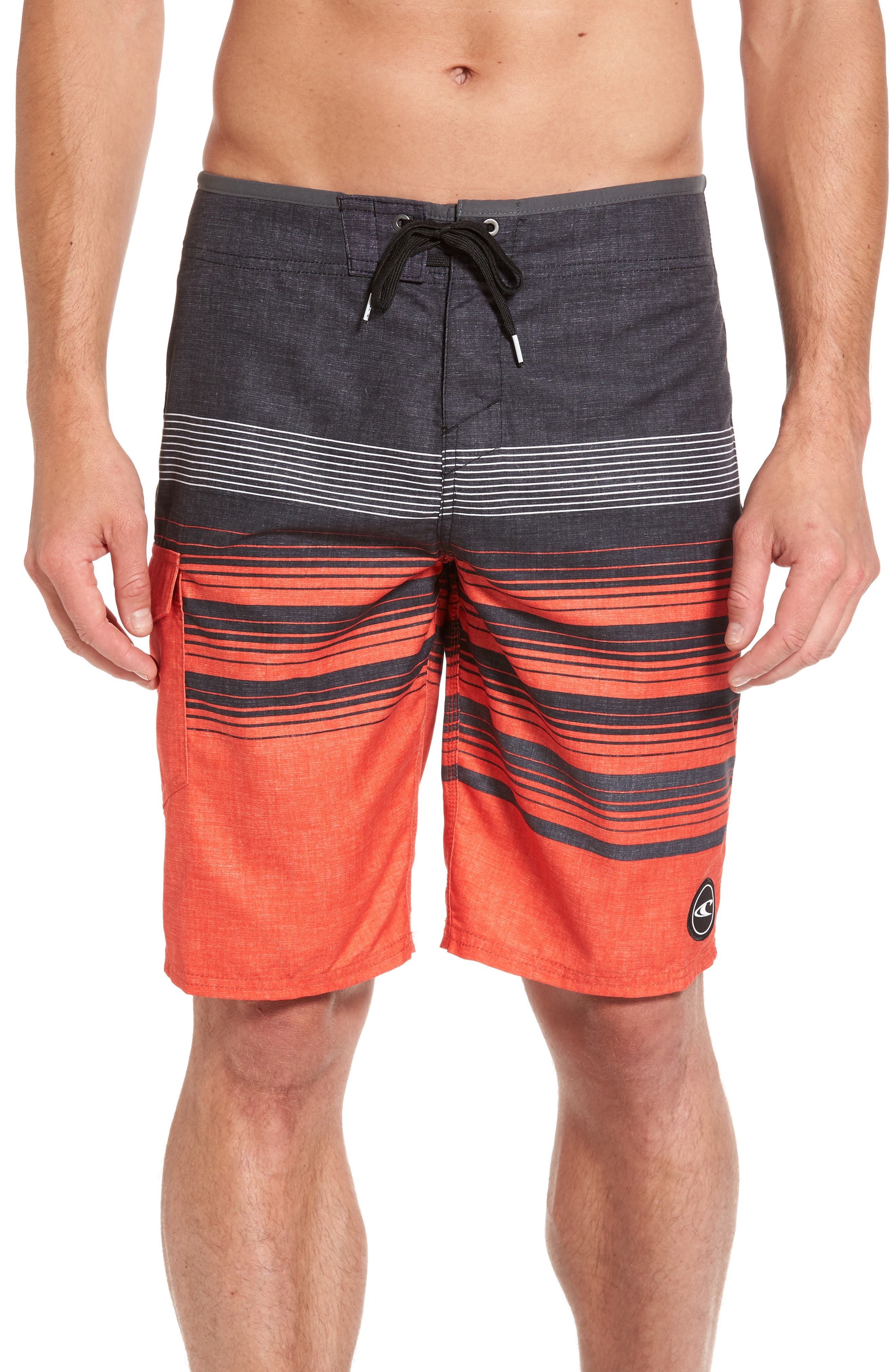 Lennox Board Shorts,                             Main thumbnail 1, color,                             Neon Red
