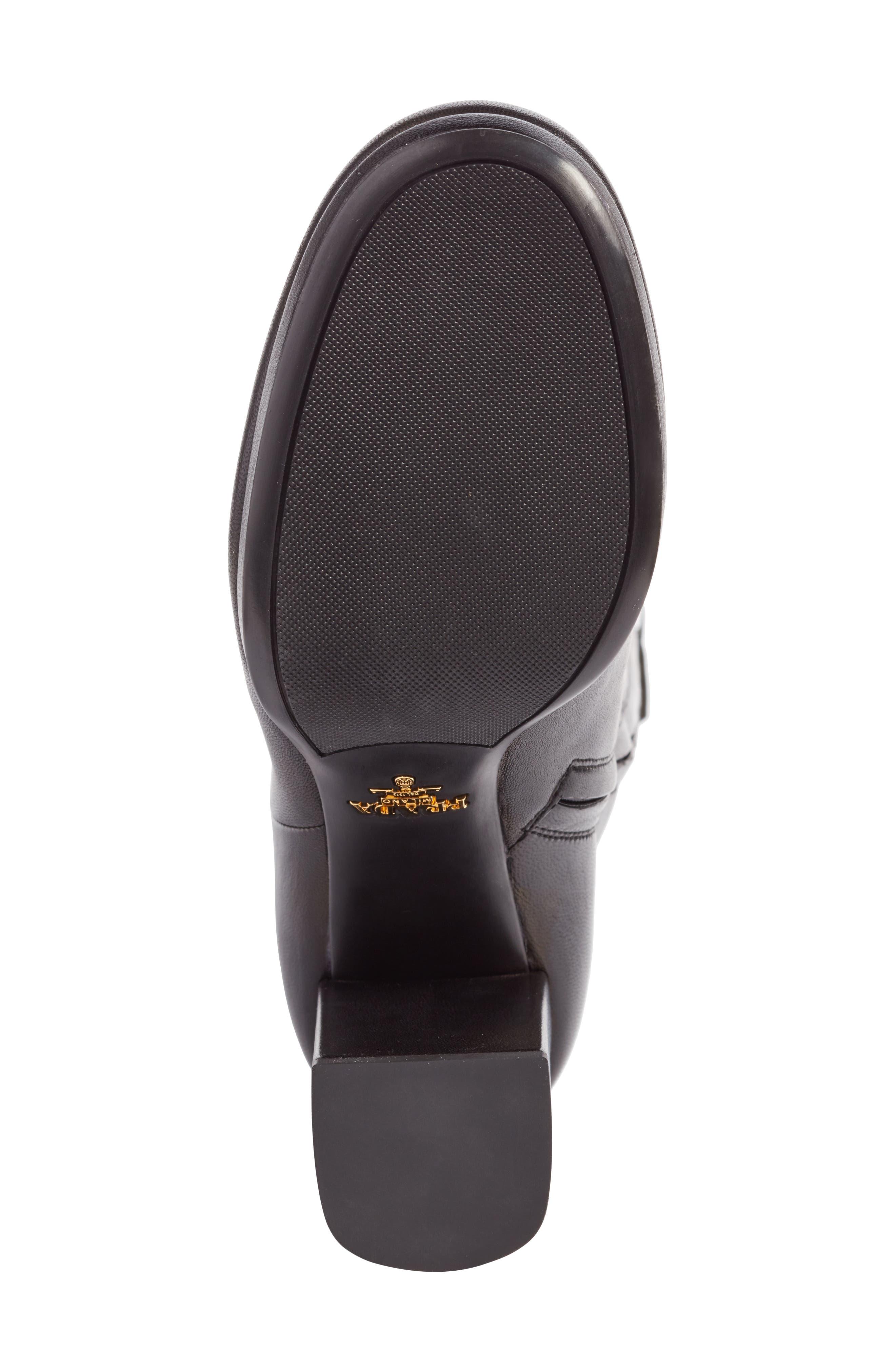 Alternate Image 6  - Prada Block Heel Tall Boot (Women)