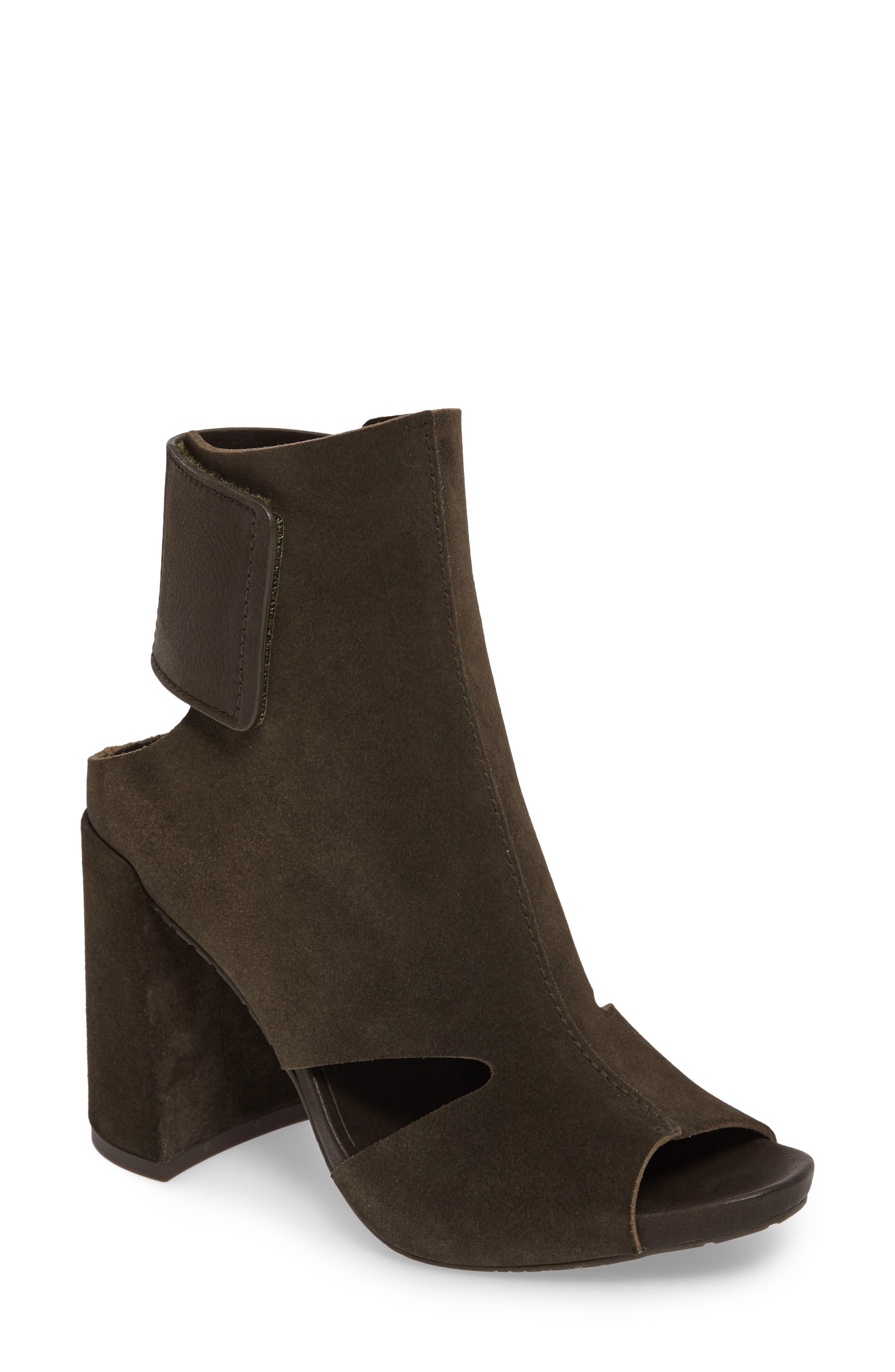 Yeca Block Heel Bootie,                         Main,                         color, Oliva Castoro