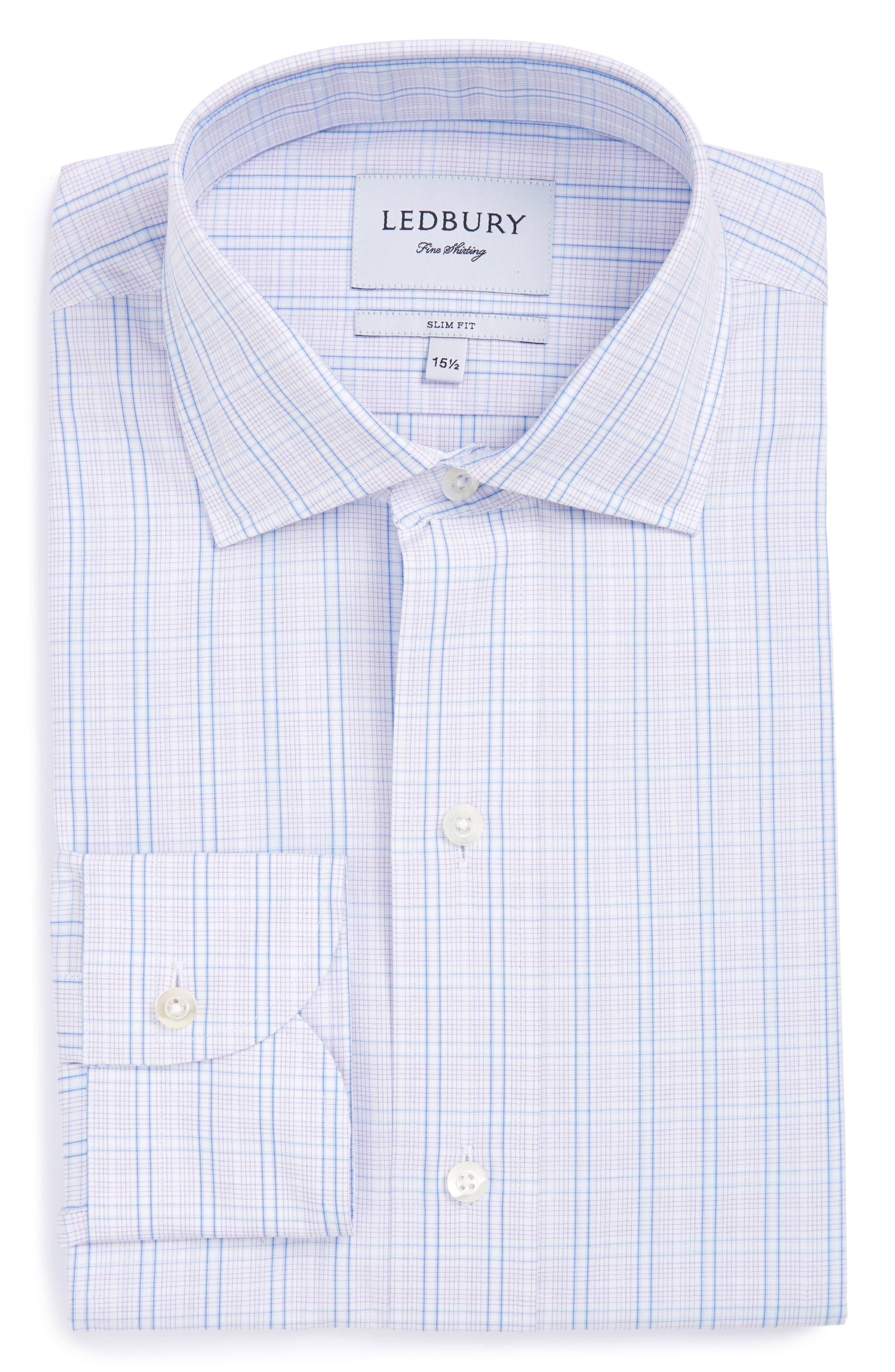 Ledbury The Loder Check Slim Fit Dress Shirt