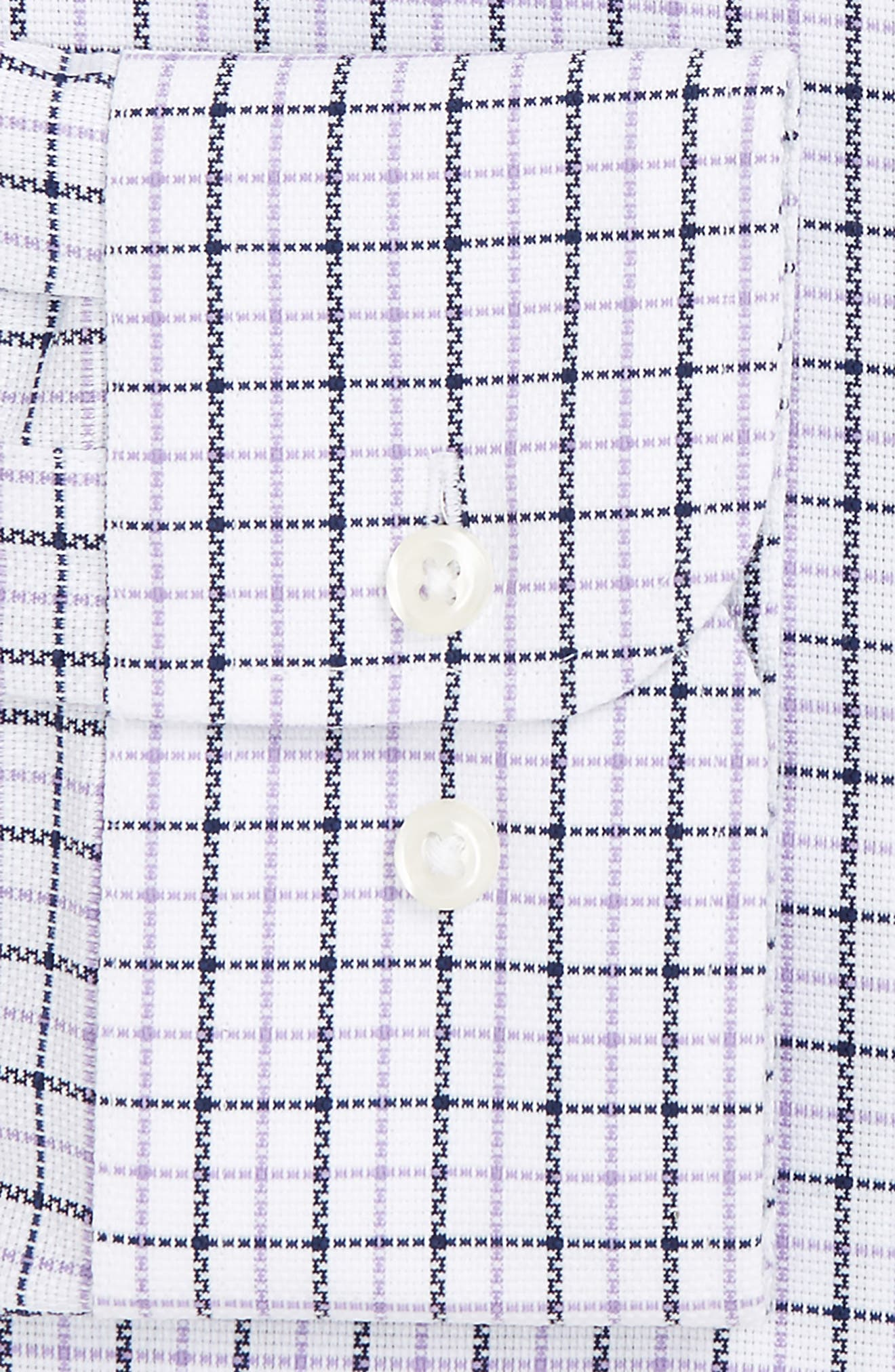 Smartcare<sup>™</sup> Trim Fit Check Dress Shirt,                             Alternate thumbnail 4, color,                             Purple Amethyst