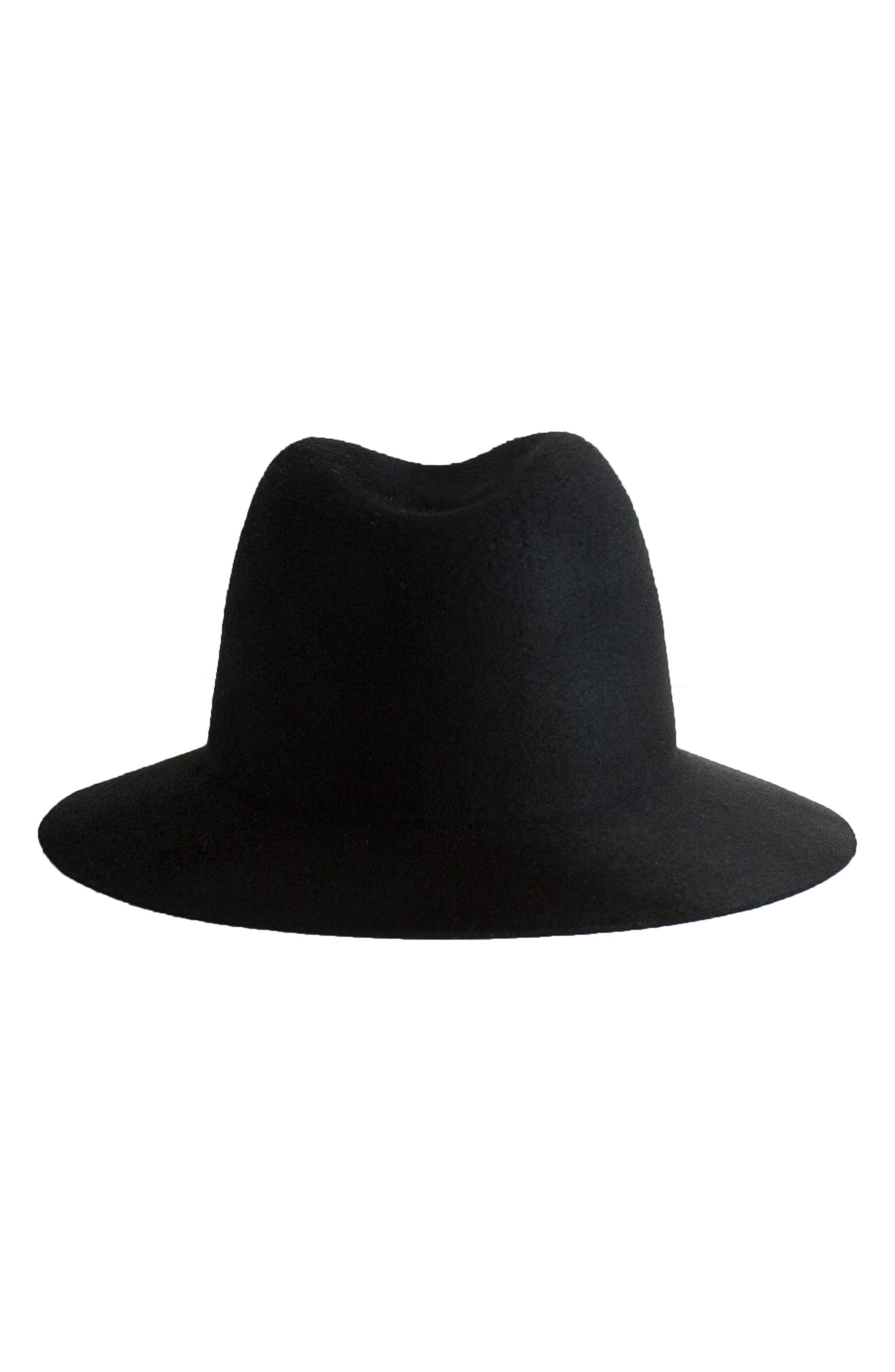 Lane Wool Hat,                             Alternate thumbnail 2, color,                             Black