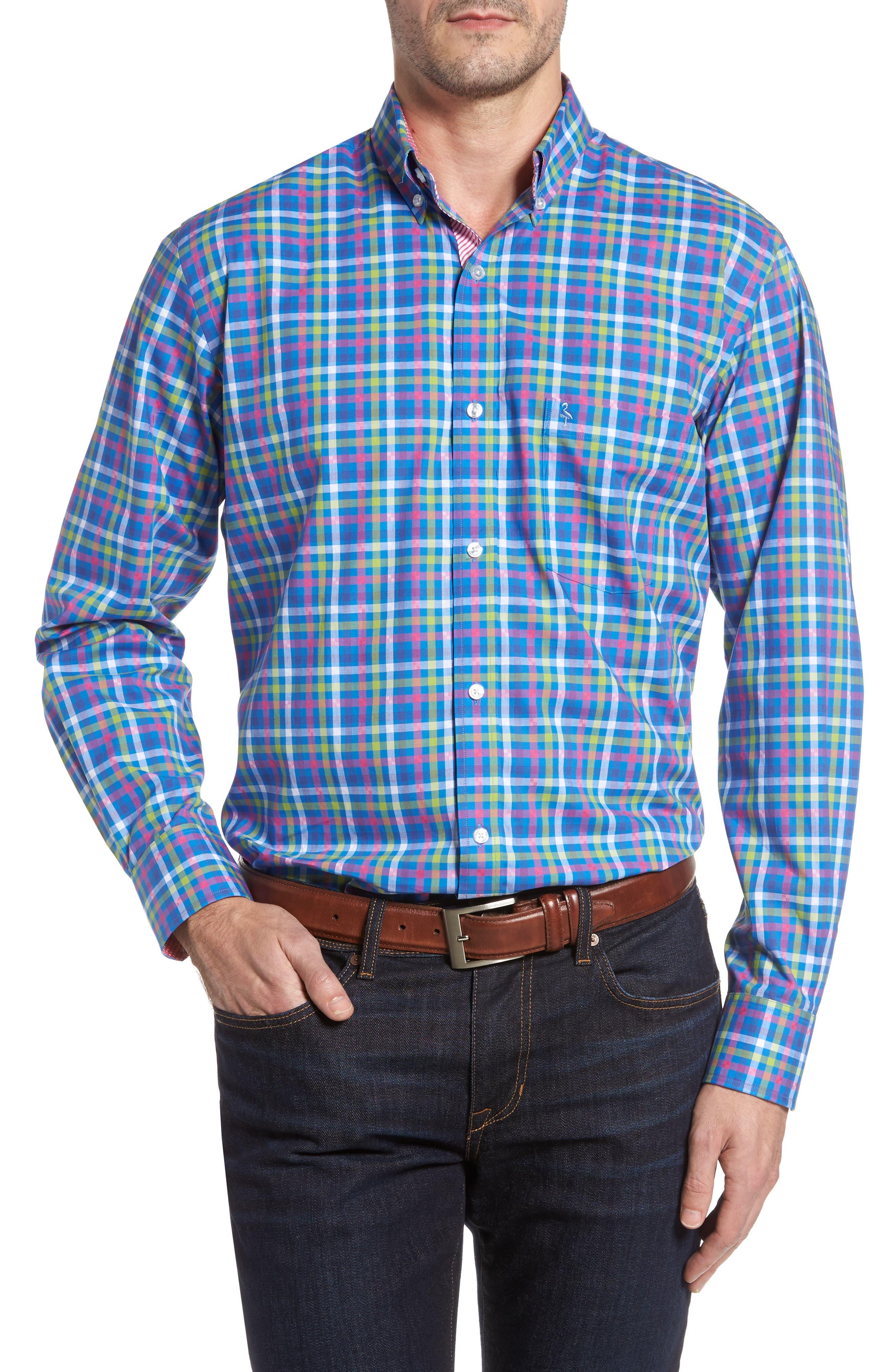 TailorByrd Privet Check Sport Shirt (Big & Tall)