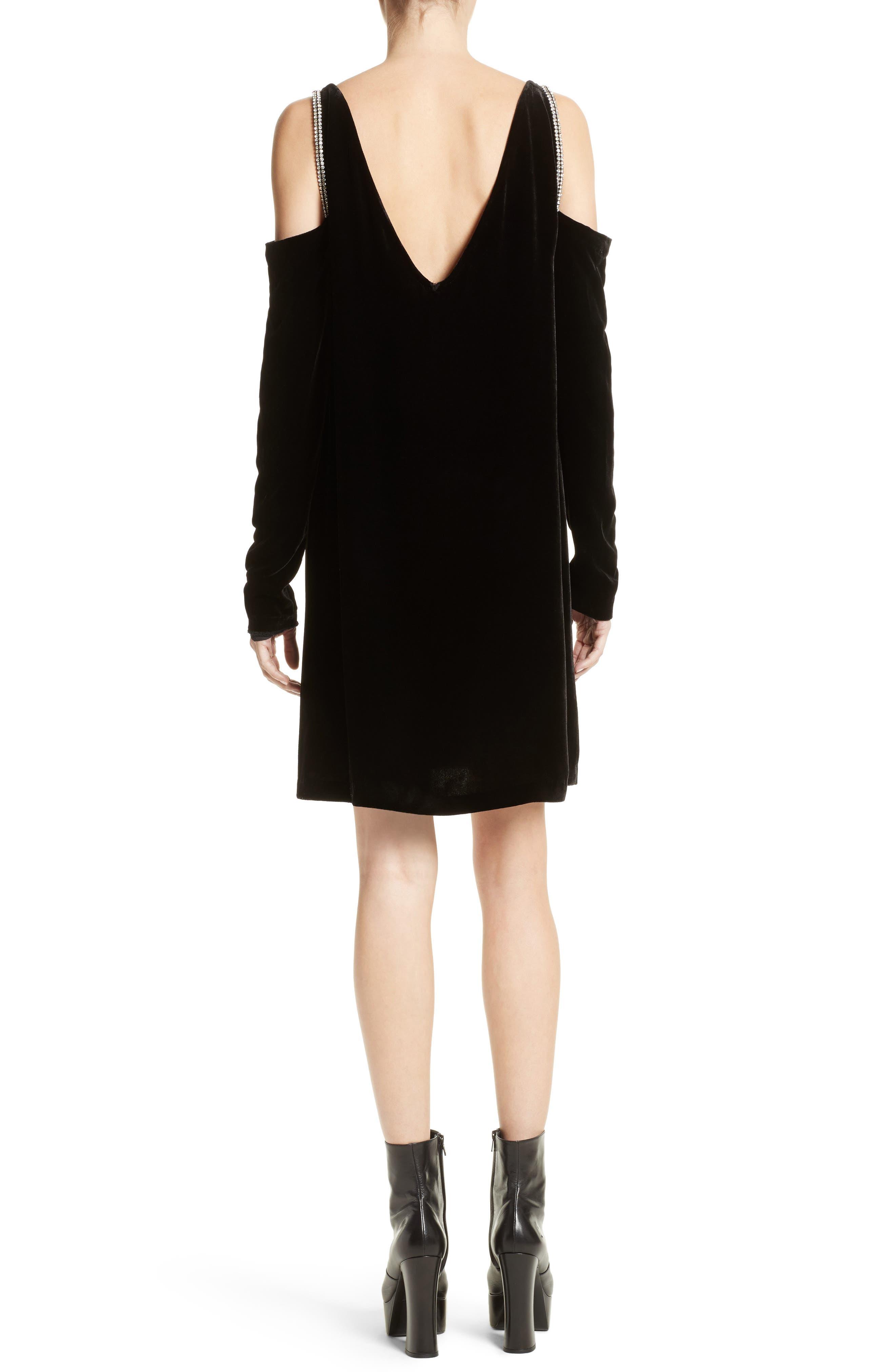 Alternate Image 2  - McQ Alexander McQueen Diam Velvet Cold Shoulder Dress